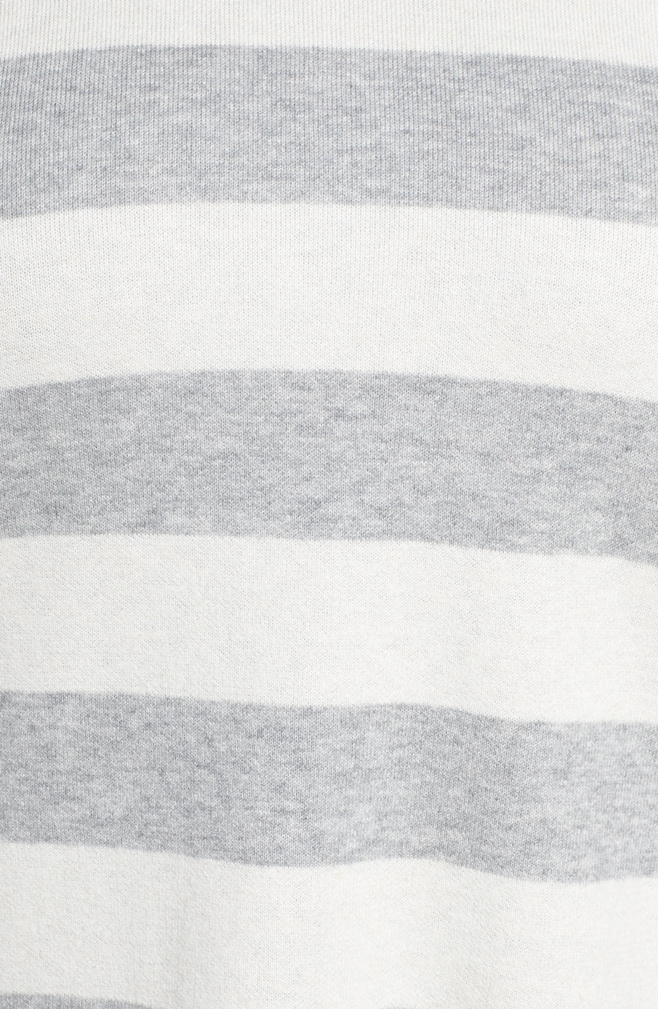Alternate Image 5  - Eileen Fisher Stripe Organic Cotton Blend Top (Plus Size)