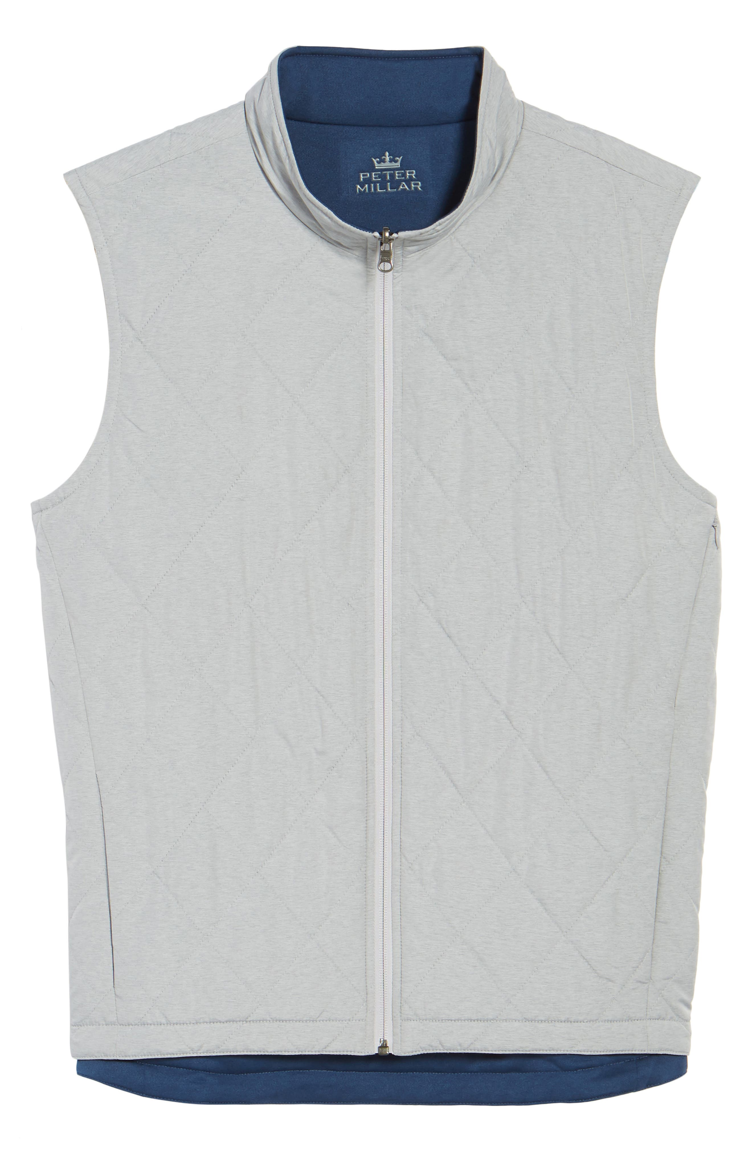 Mitchell Reversible Quilted Vest,                             Alternate thumbnail 6, color,                             British Grey