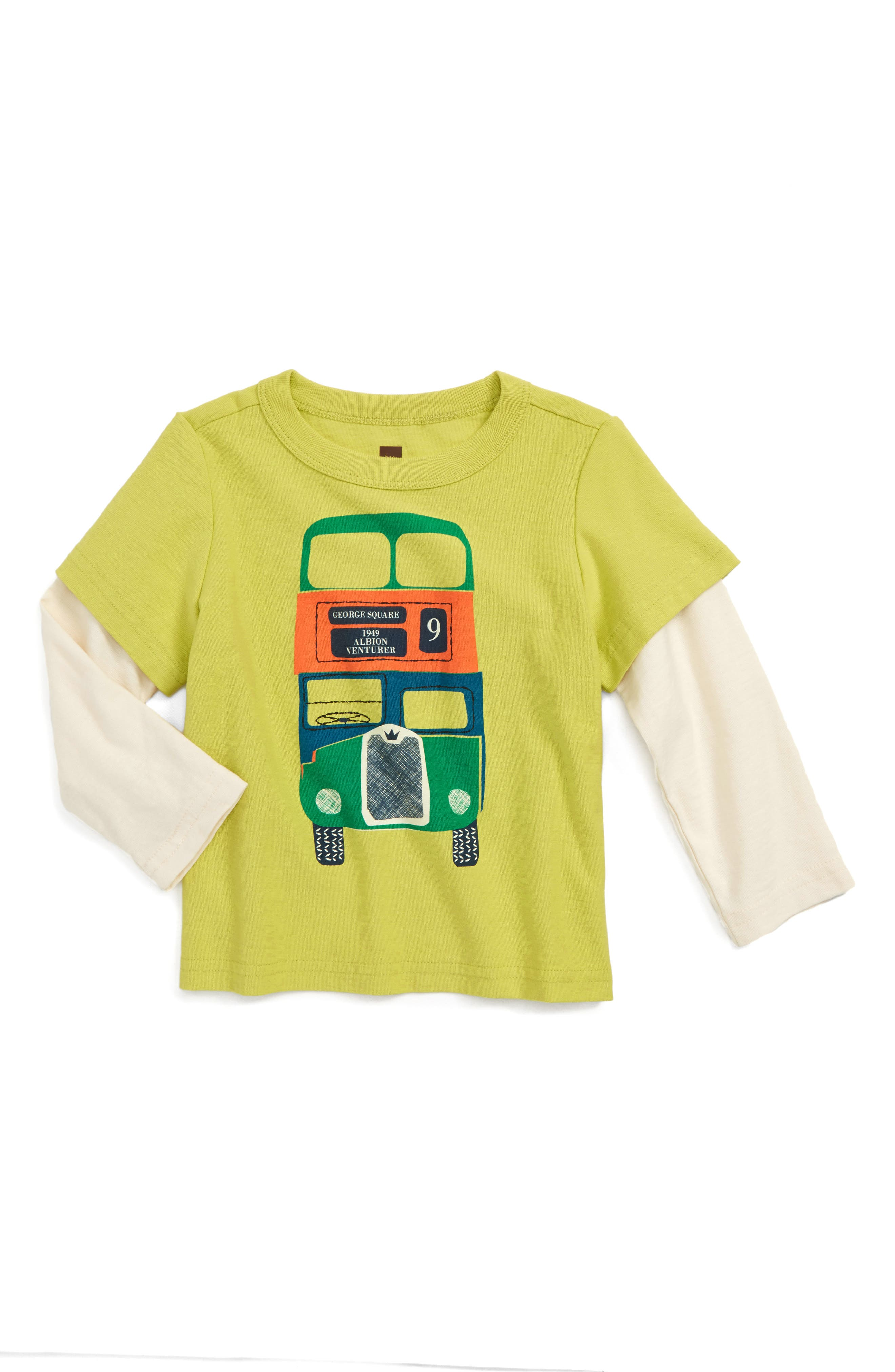 Alternate Image 1 Selected - Tea Collection Dundee Bus Layer T-Shirt (Baby Boys)