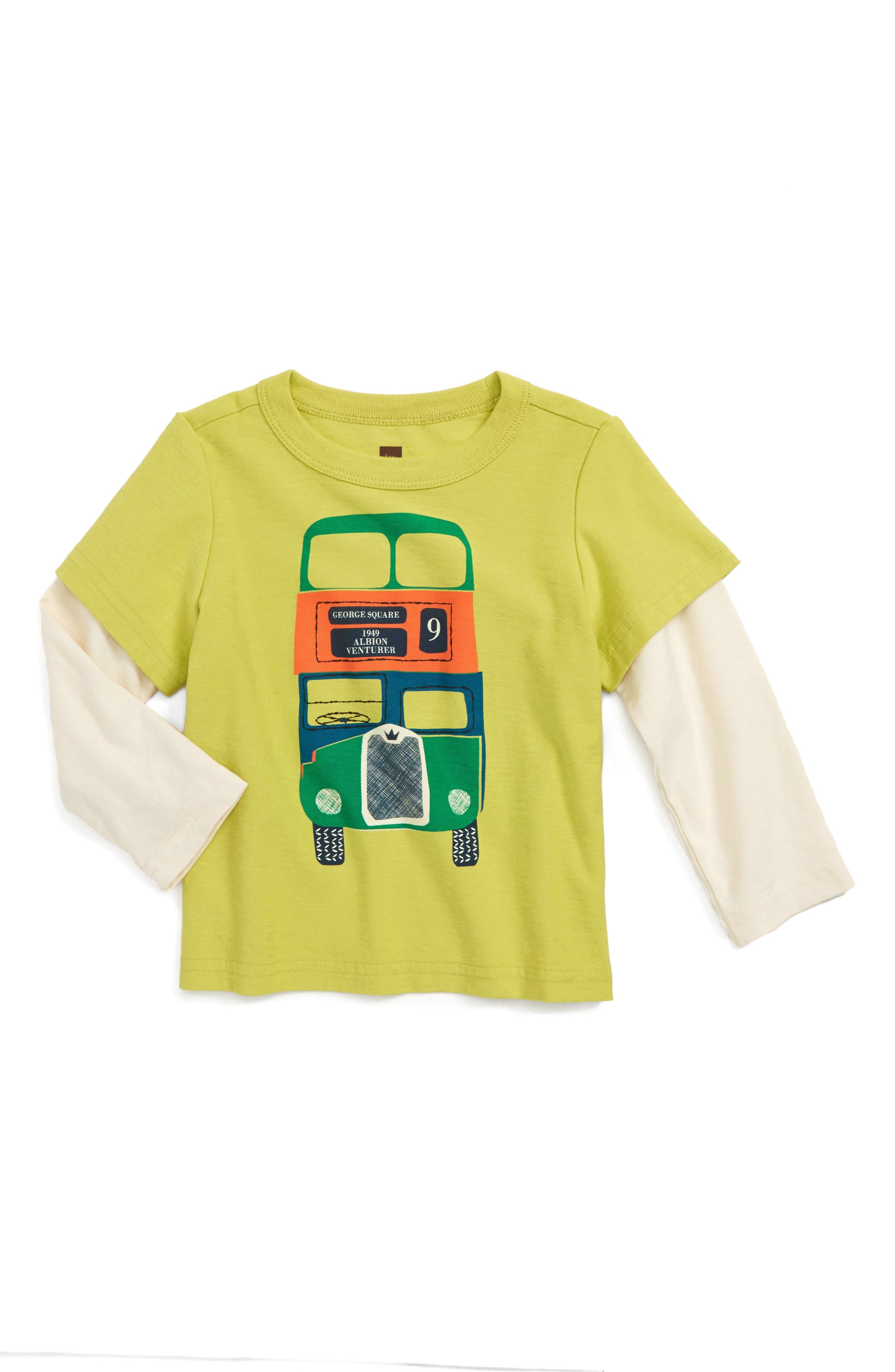 Dundee Bus Layer T-Shirt,                         Main,                         color, Lemonade