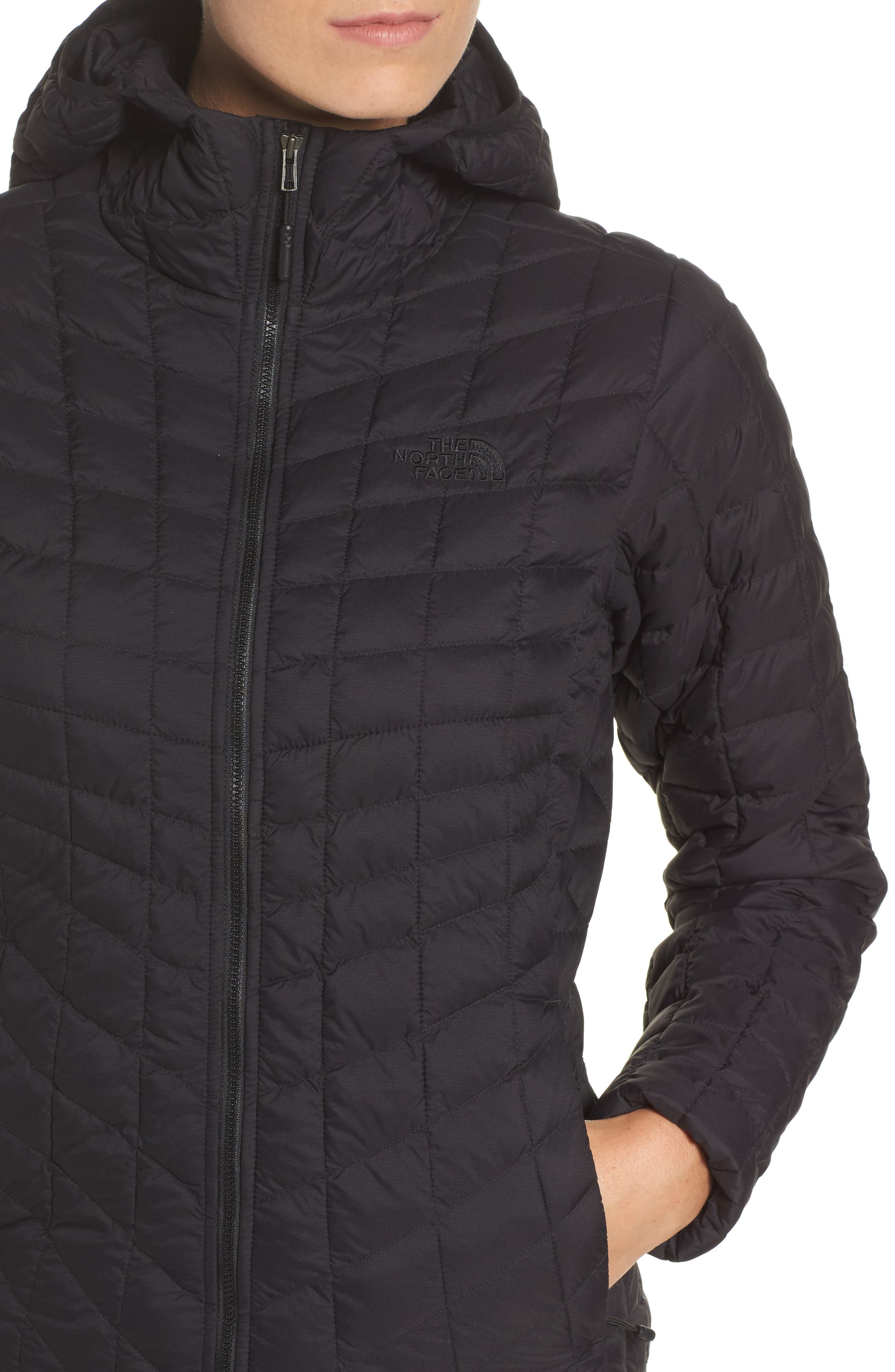 ThermoBall<sup>™</sup> Zip Hoodie,                             Alternate thumbnail 4, color,                             Tnf Black Matte
