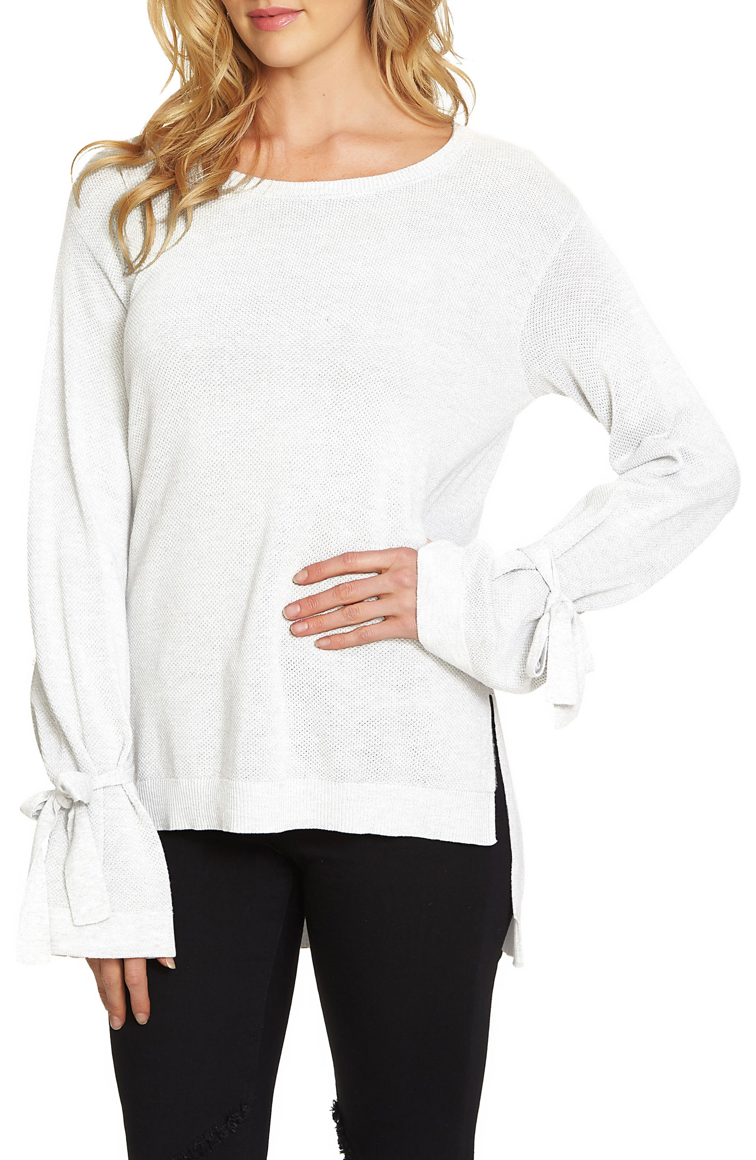 Alternate Image 1 Selected - 1.STATE Tie Sleeve Sweater
