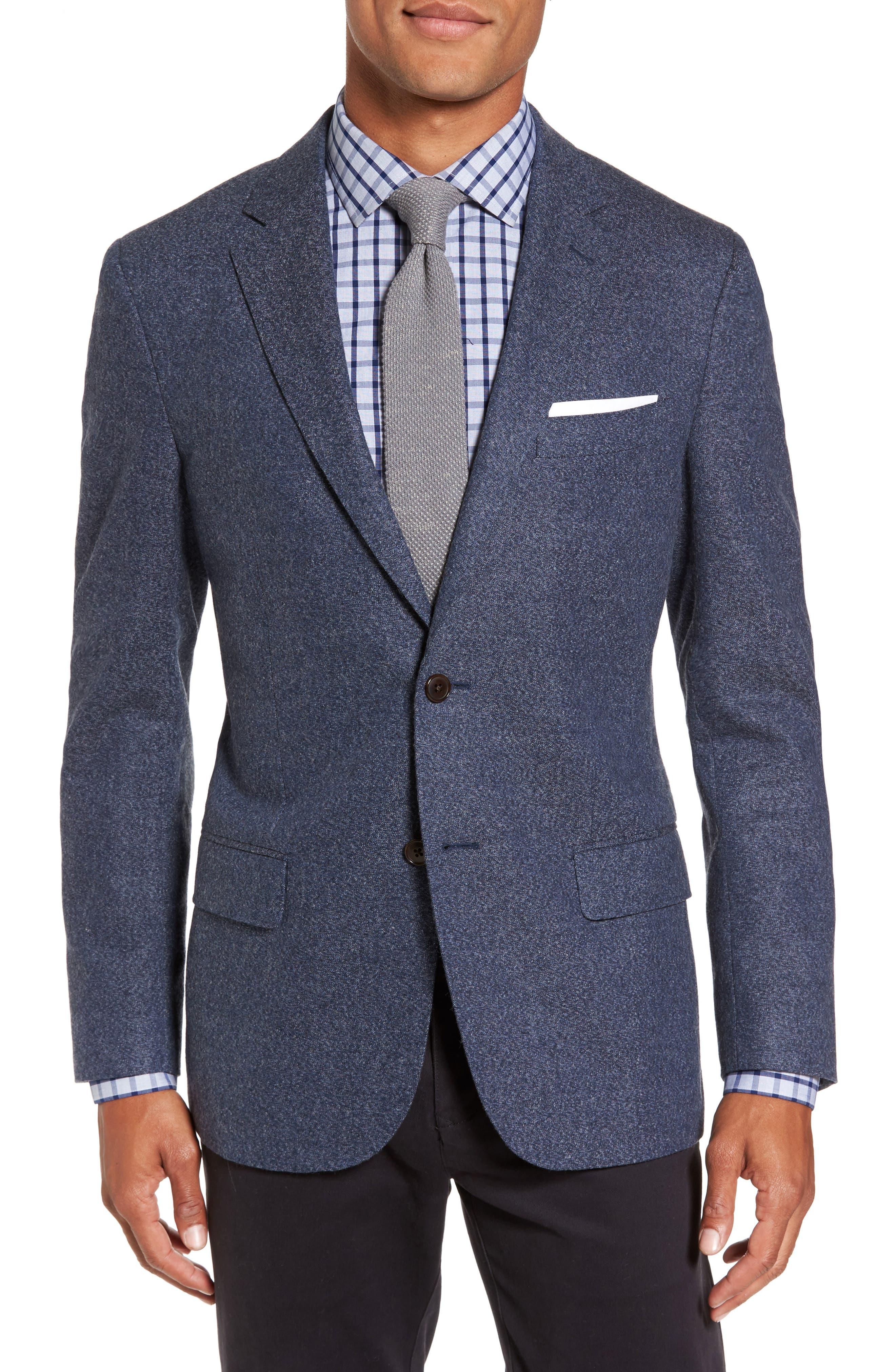 Charleston Wool Blend Sport Coat,                         Main,                         color, Peacoat