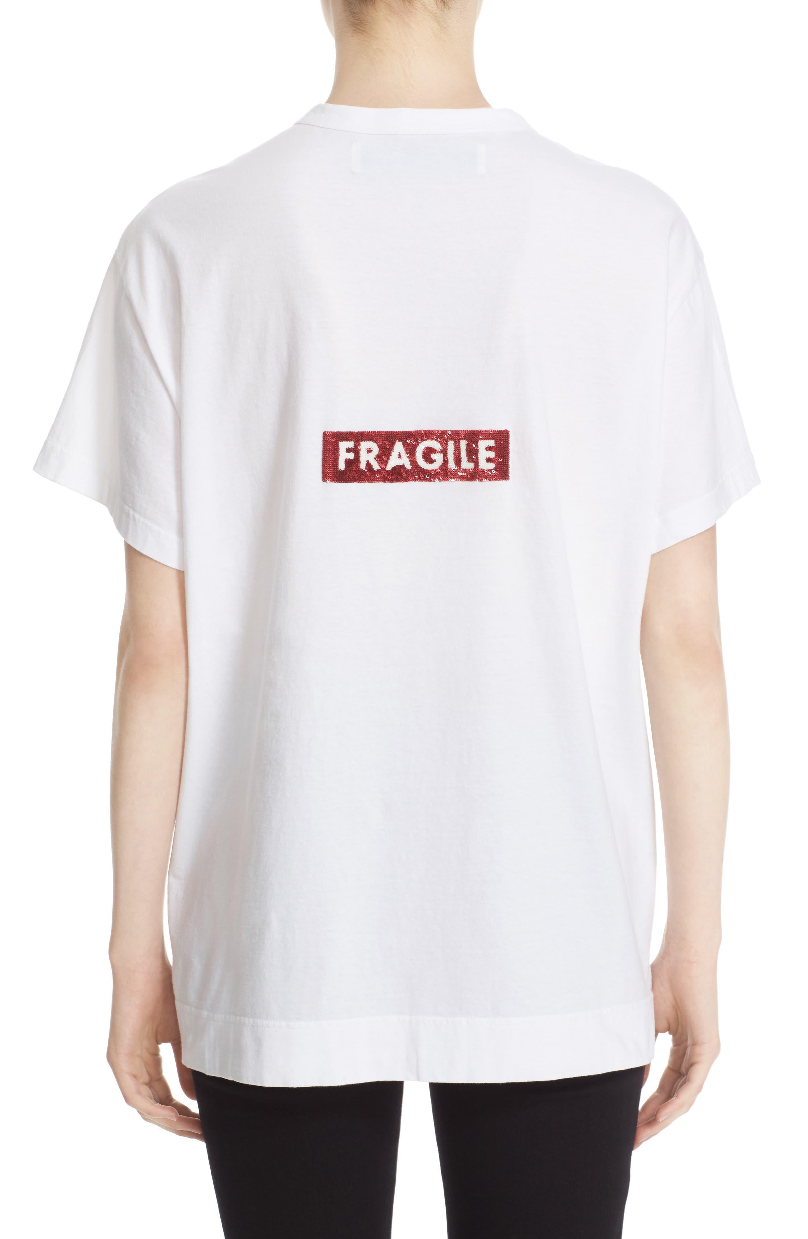 Tu es mon TRÉSOR Fragile Sequin Back Logo Tee