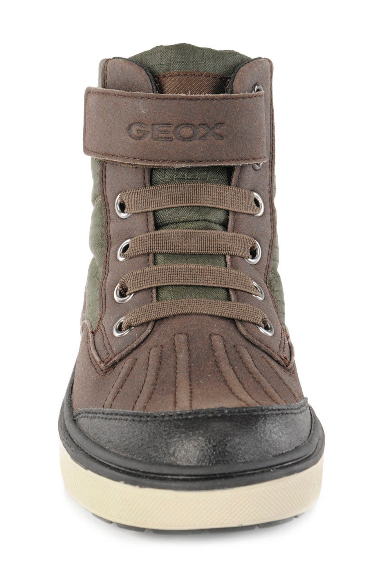 'Mattias - ABX' Amphibiox<sup>®</sup> Waterproof Sneaker,                             Alternate thumbnail 4, color,                             Green/ Brown
