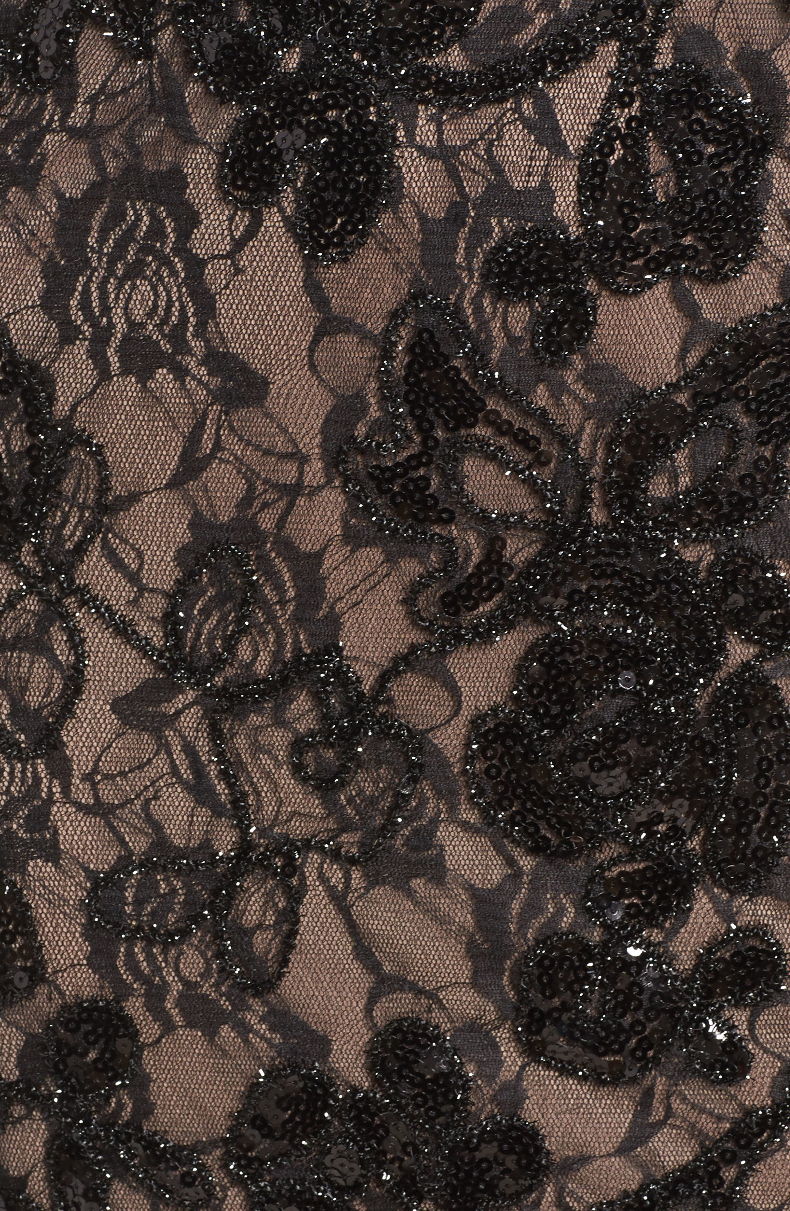 Alternate Image 5  - Adrianna Papell Sequin Lace Gown