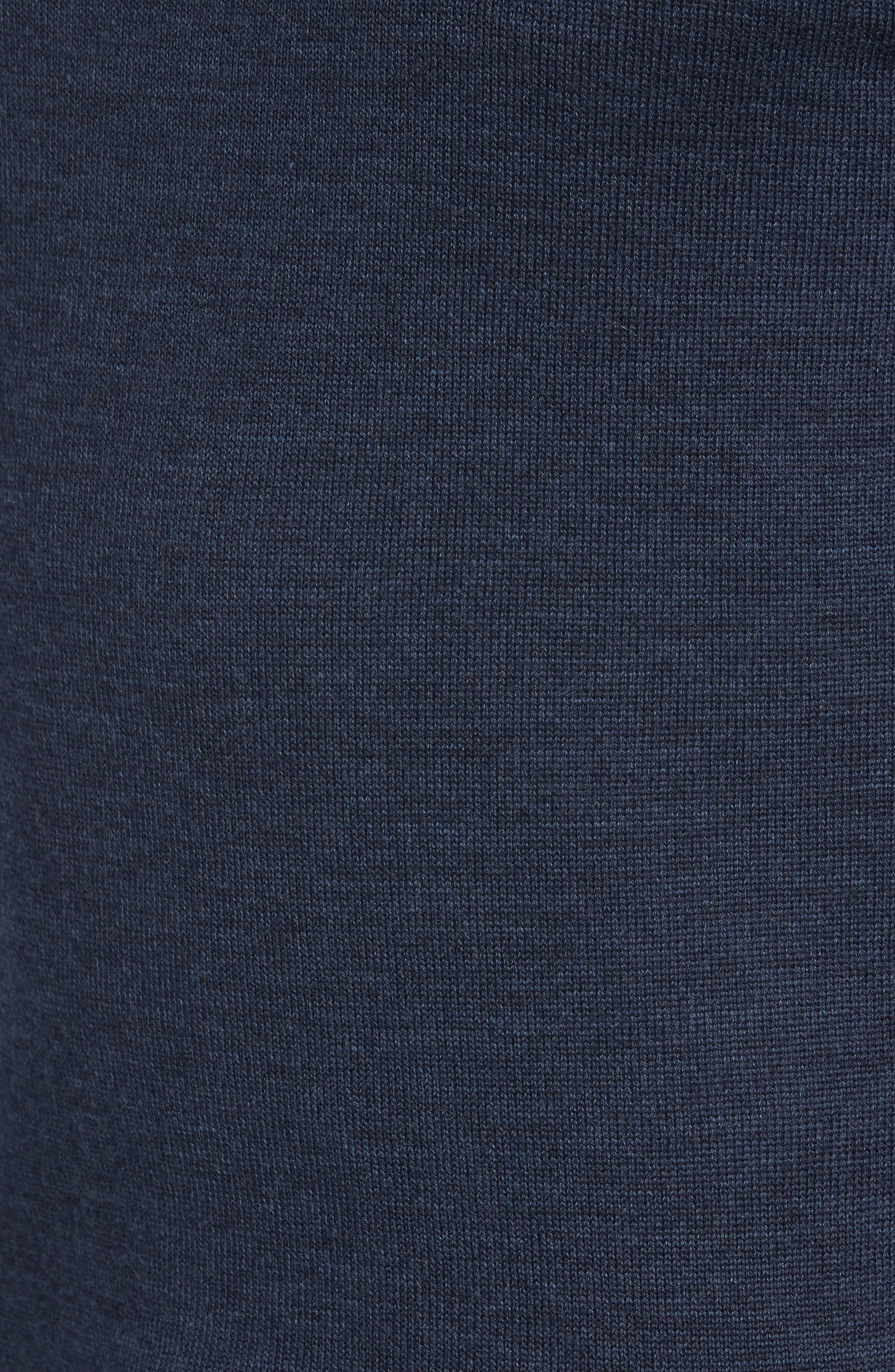 Bannockburn Mélange Merino Wool Sweater,                             Alternate thumbnail 5, color,                             Ink