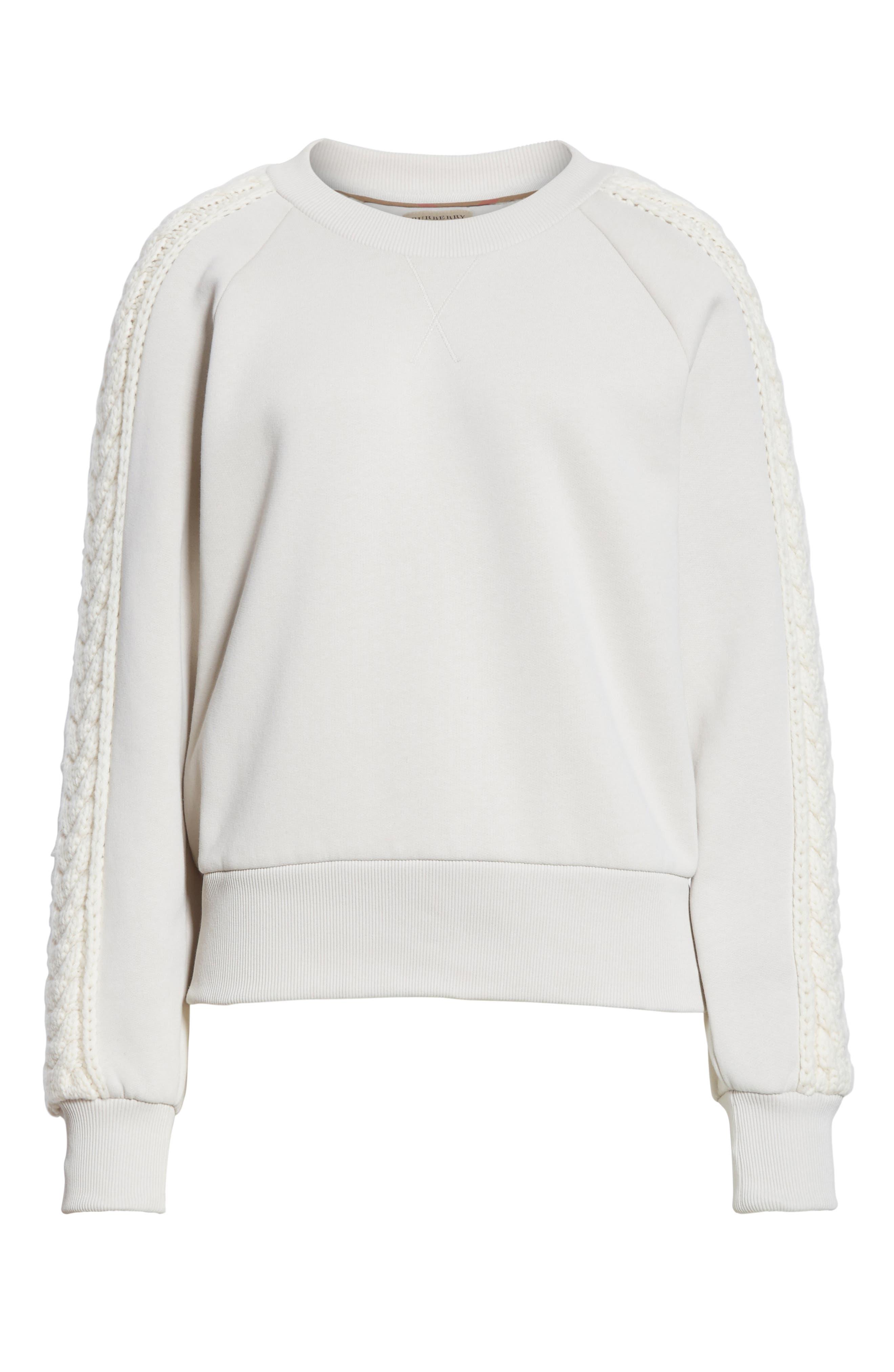 Selho Sweatshirt,                             Alternate thumbnail 6, color,                             Winter White