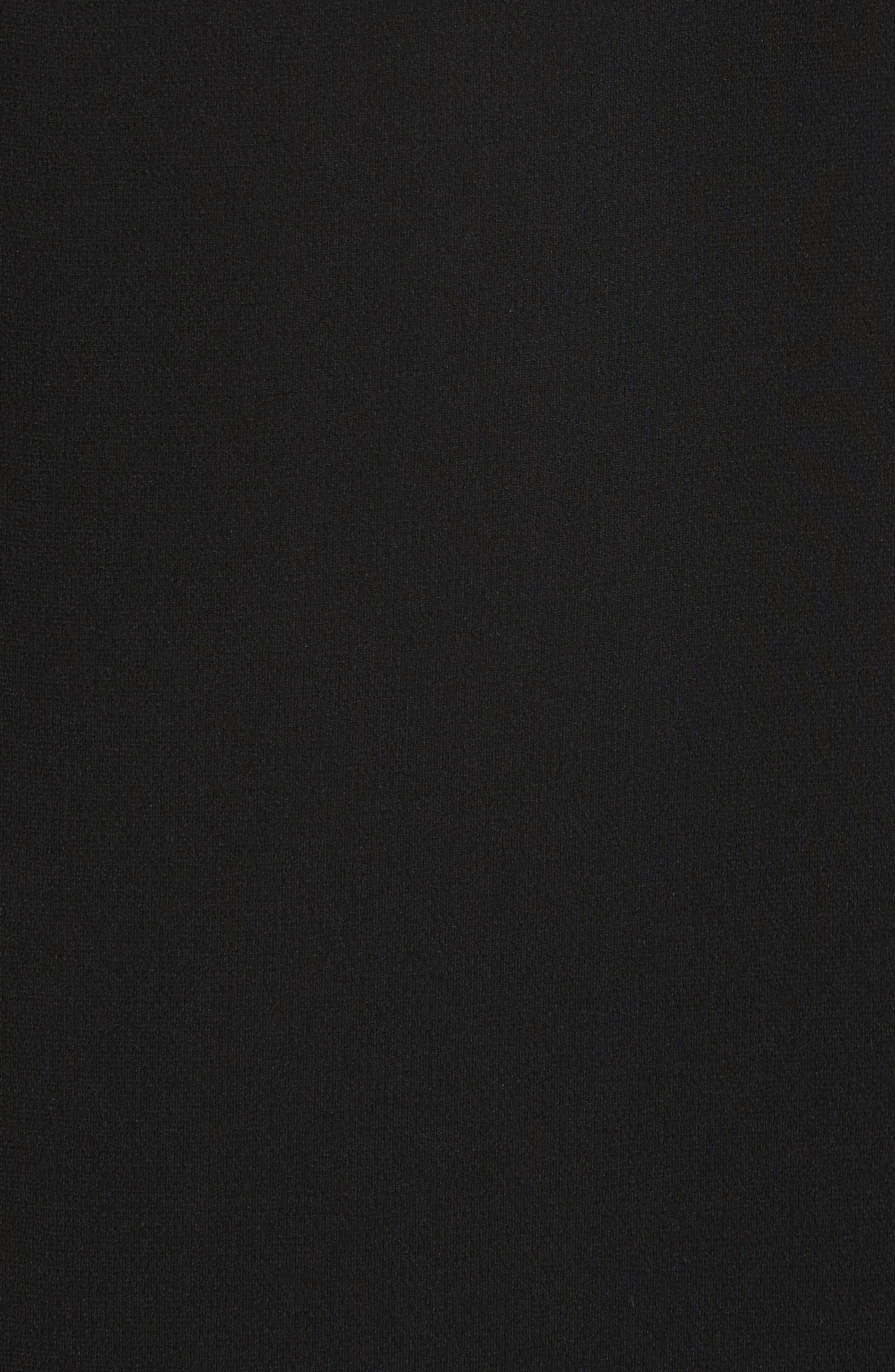Open Back Ribbon Trim Dress,                             Alternate thumbnail 5, color,                             Black