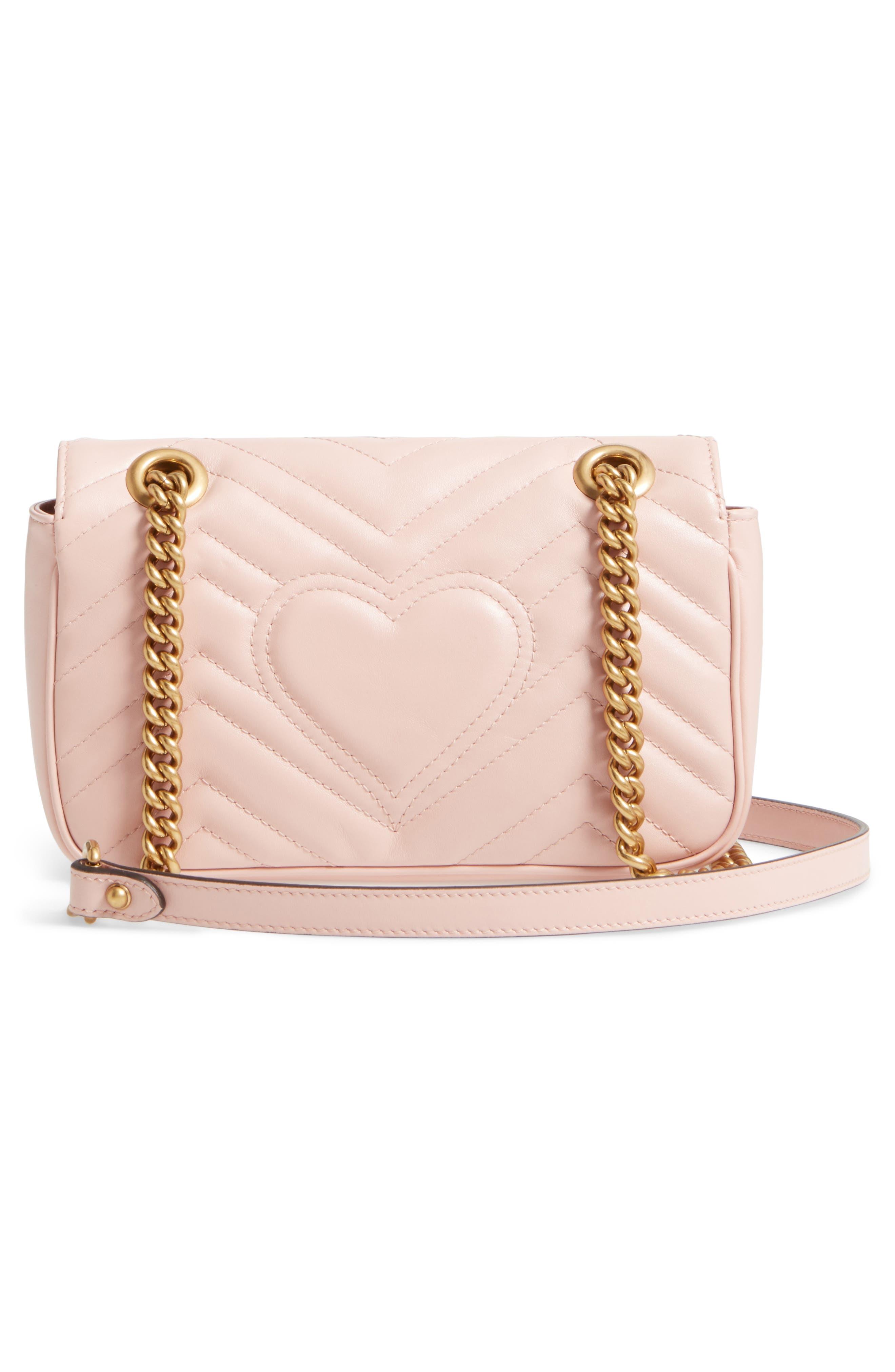 Mini GG Marmont 2.0 Matelassé Leather Shoulder Bag,                             Alternate thumbnail 2, color,                             Perfect Pink