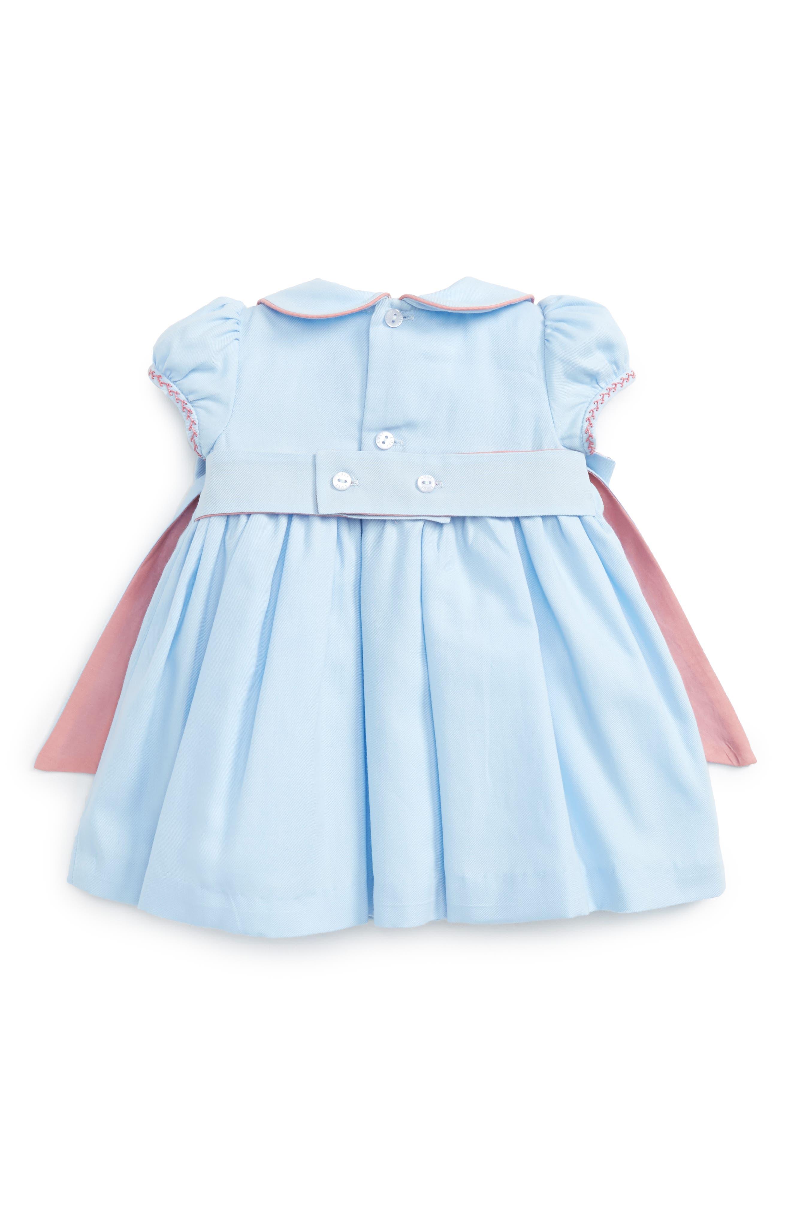 Alternate Image 2  - Luli & Me Charlotte Smocked Dress (Baby Girls)