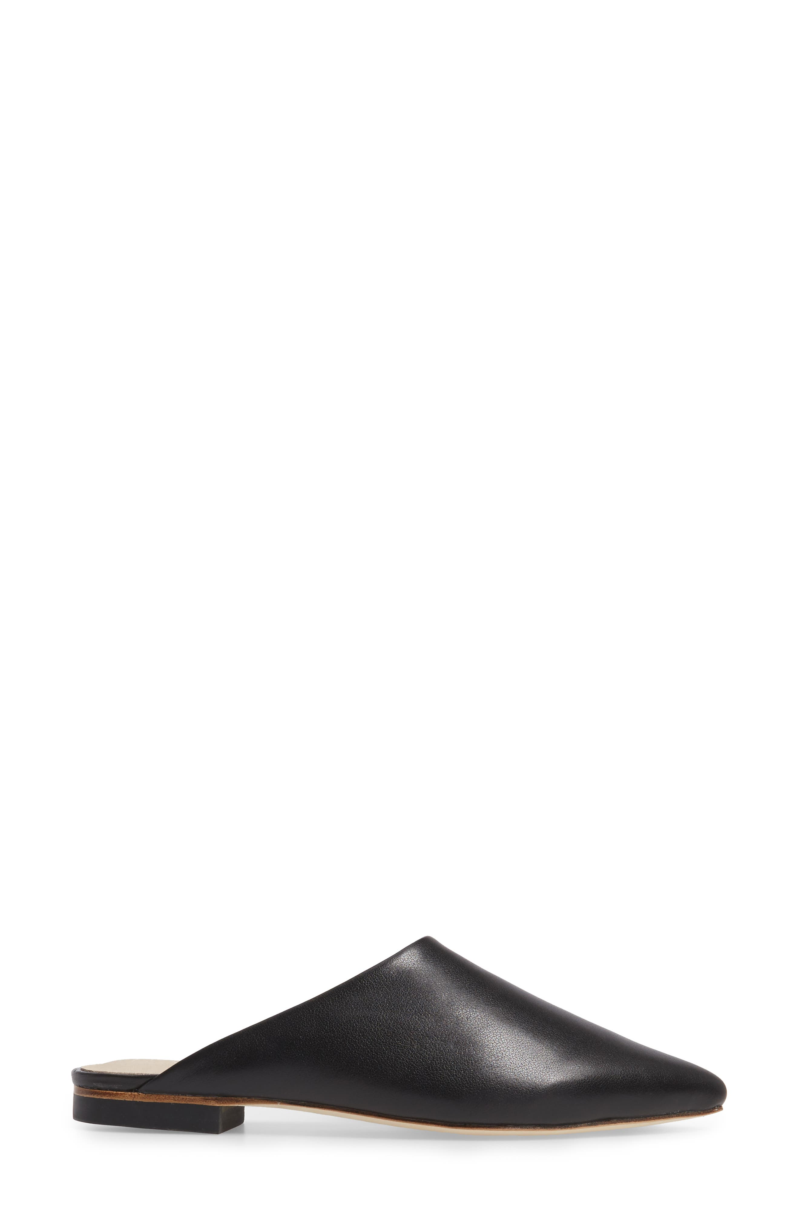 Starlet Mule,                             Alternate thumbnail 3, color,                             Black Leather