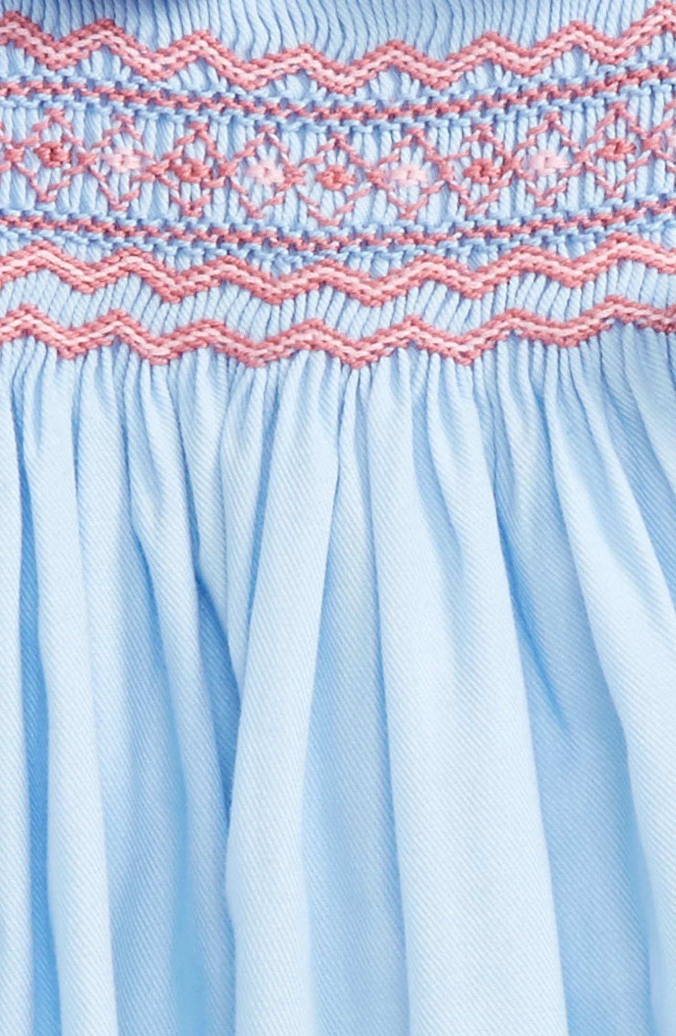 Alternate Image 3  - Luli & Me Charlotte Smocked Dress (Baby Girls)