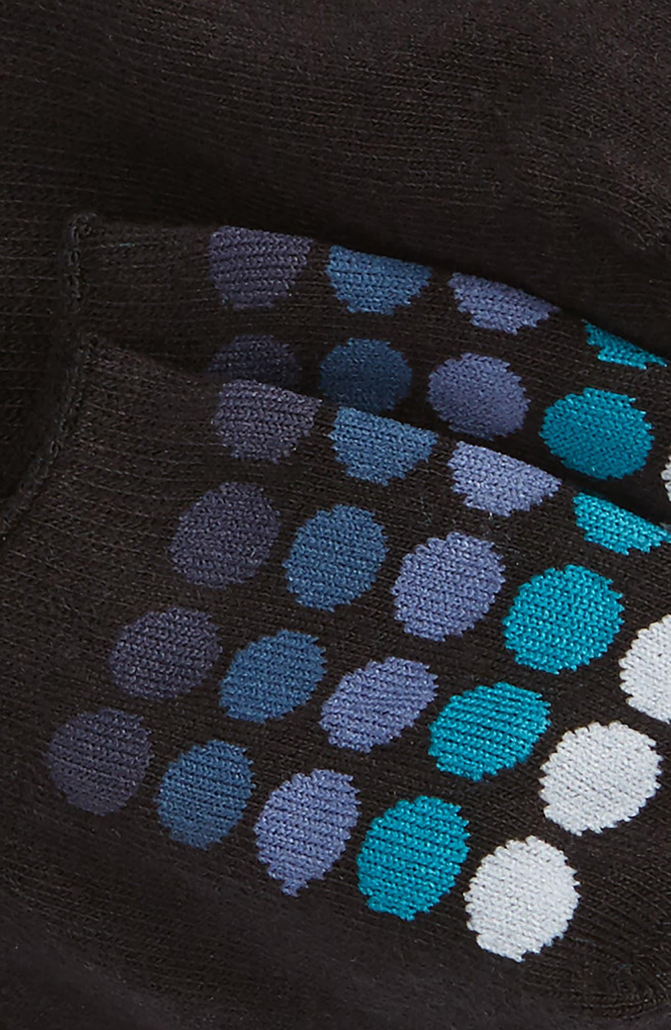 2-Pack Cotton Blend Liner Socks,                             Alternate thumbnail 2, color,                             Black