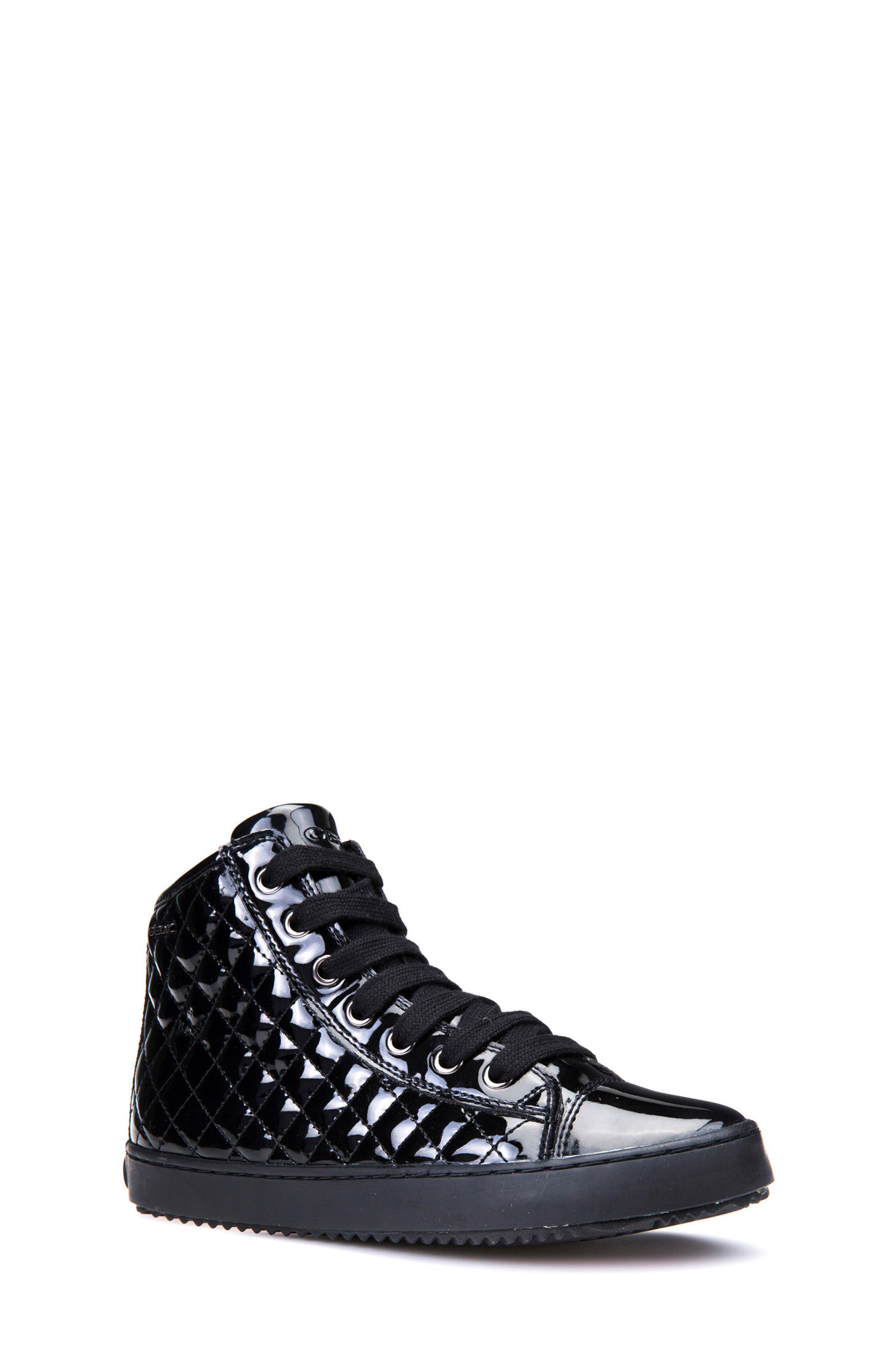 Kalispera Girl Quilted High-Top Sneaker,                             Main thumbnail 1, color,                             Black