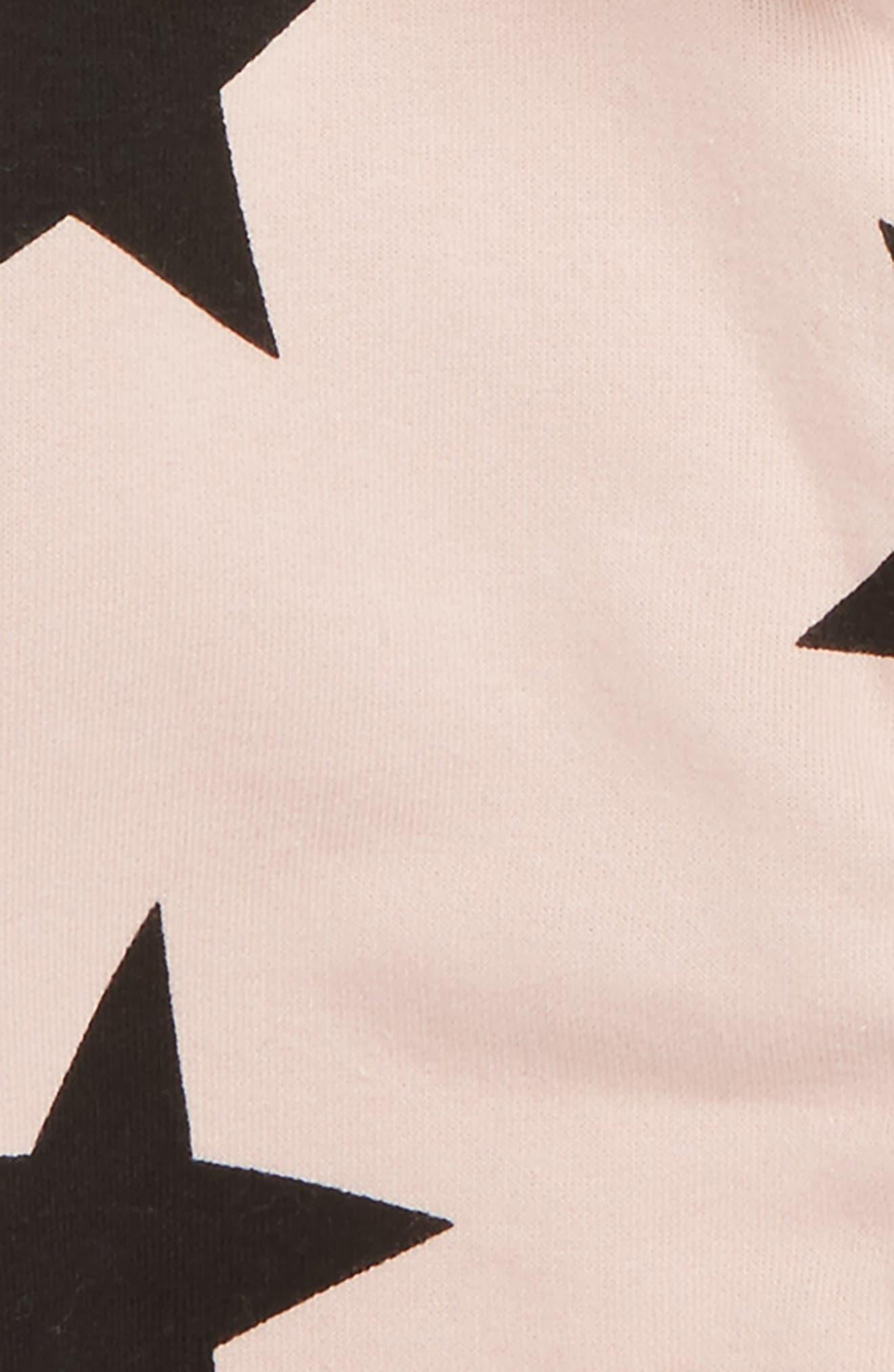 Alternate Image 2  - NUNUNU Star Zip Hoodie (Baby Girls)