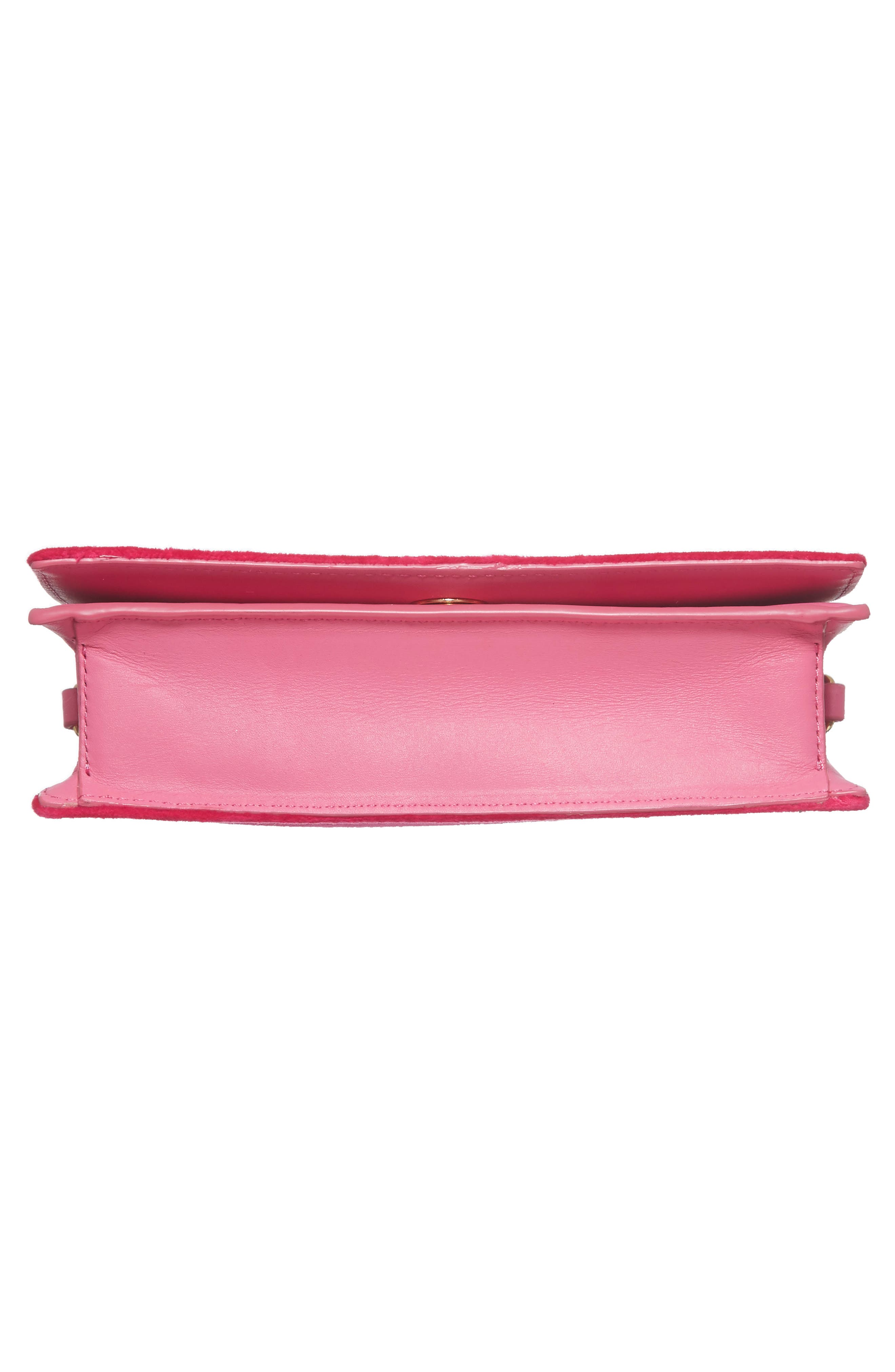 Soirée Velvet Convertible Crossbody Bag,                             Alternate thumbnail 7, color,                             Pink Azalea