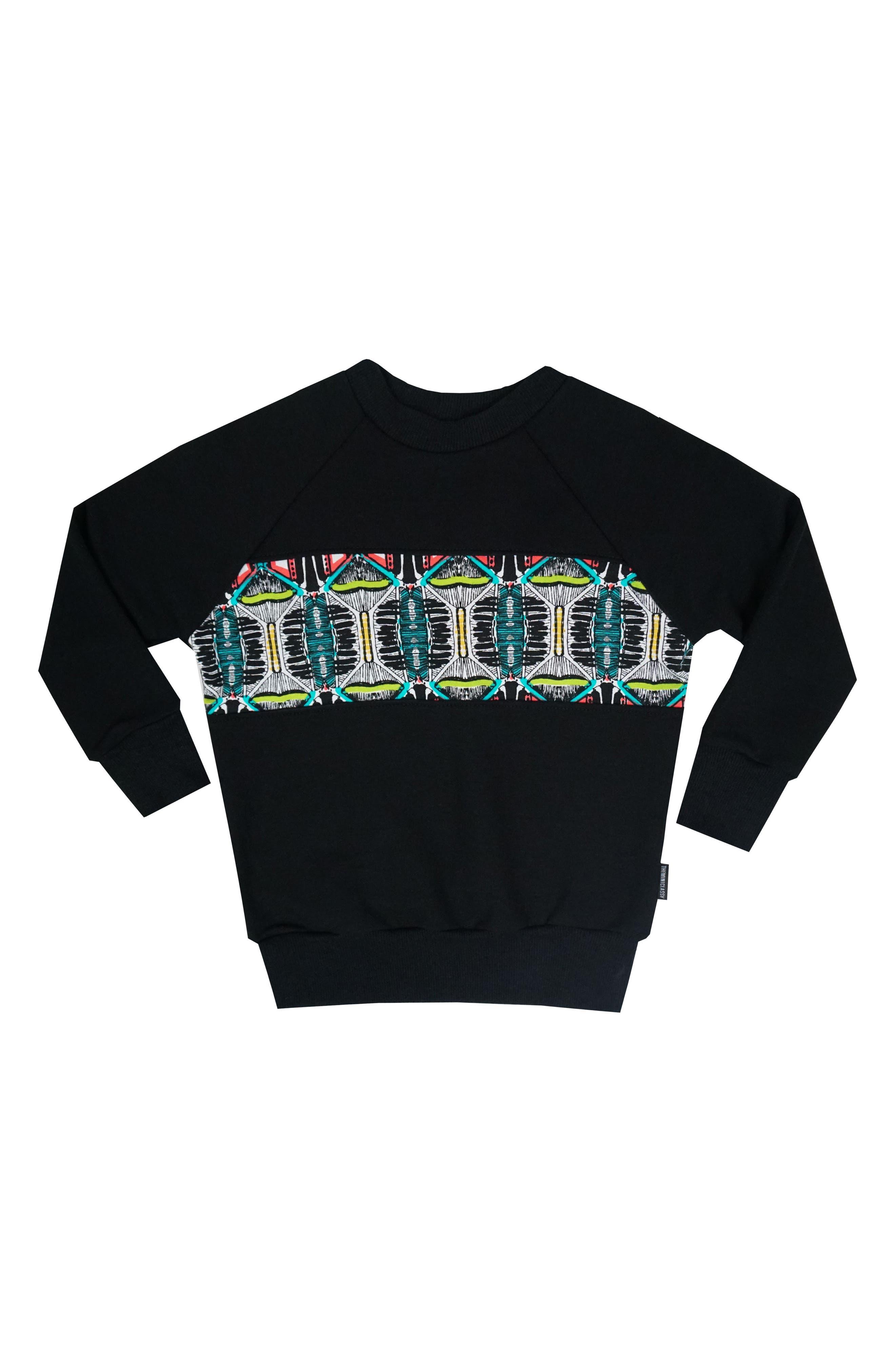 Graphic Long Sleeve T-Shirt,                         Main,                         color, Black