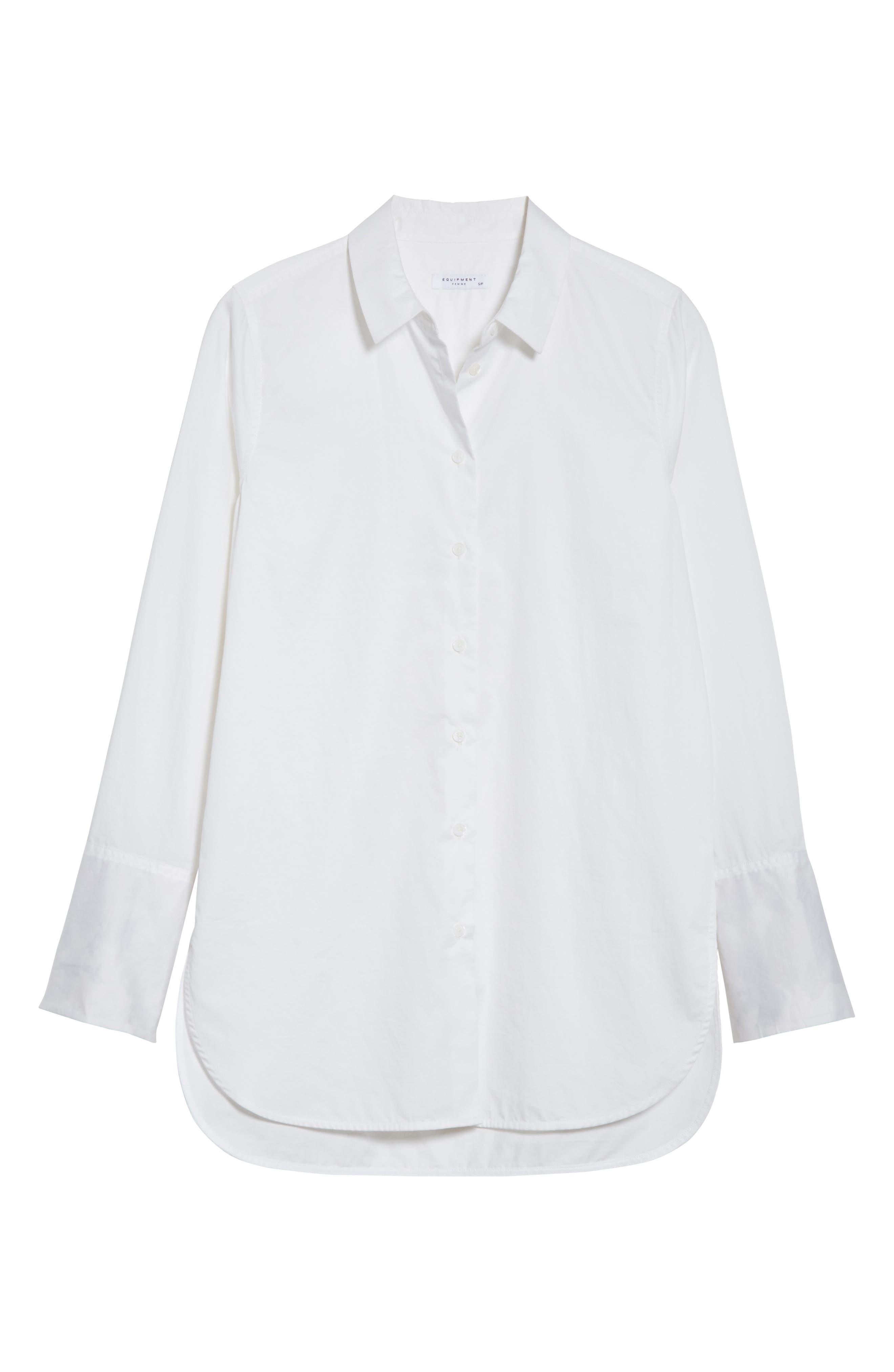 Arlette Cotton Shirt,                             Alternate thumbnail 6, color,                             Bright White