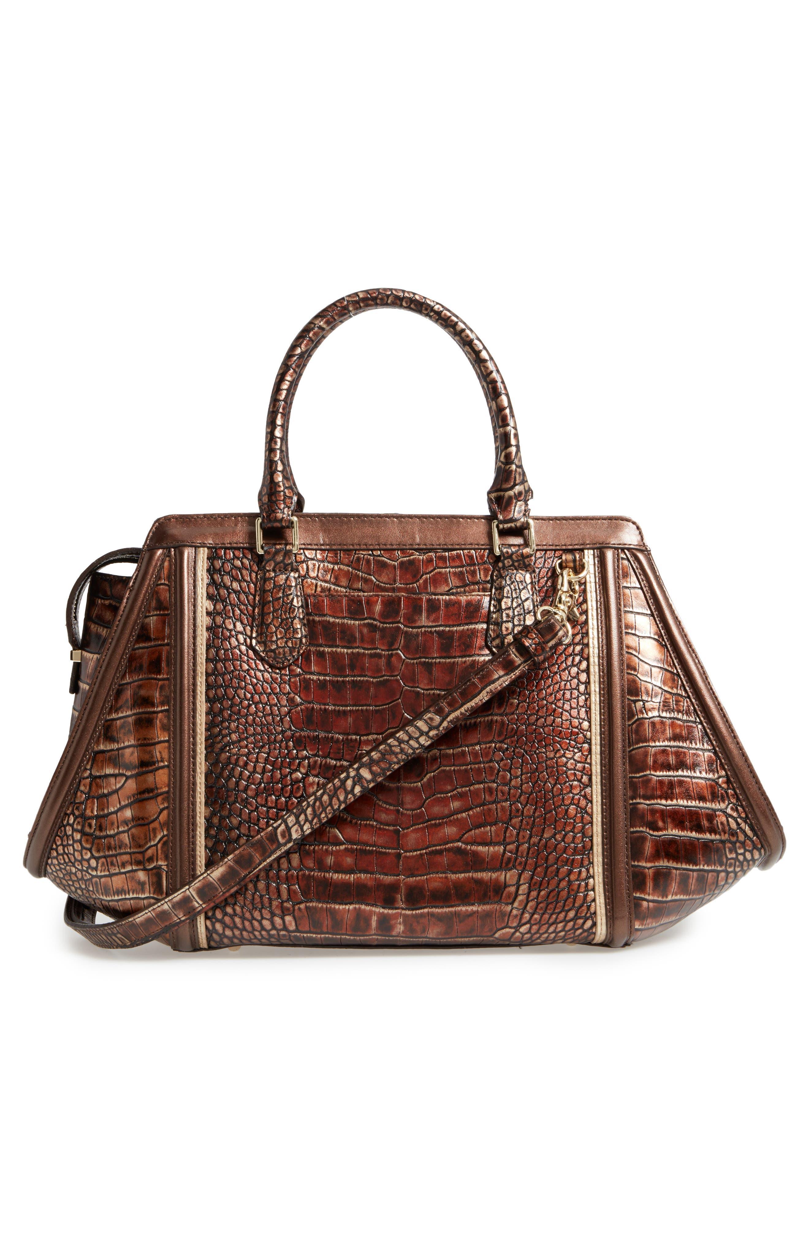 Alternate Image 2  - Brahmin Milan Arden Embossed Leather Satchel