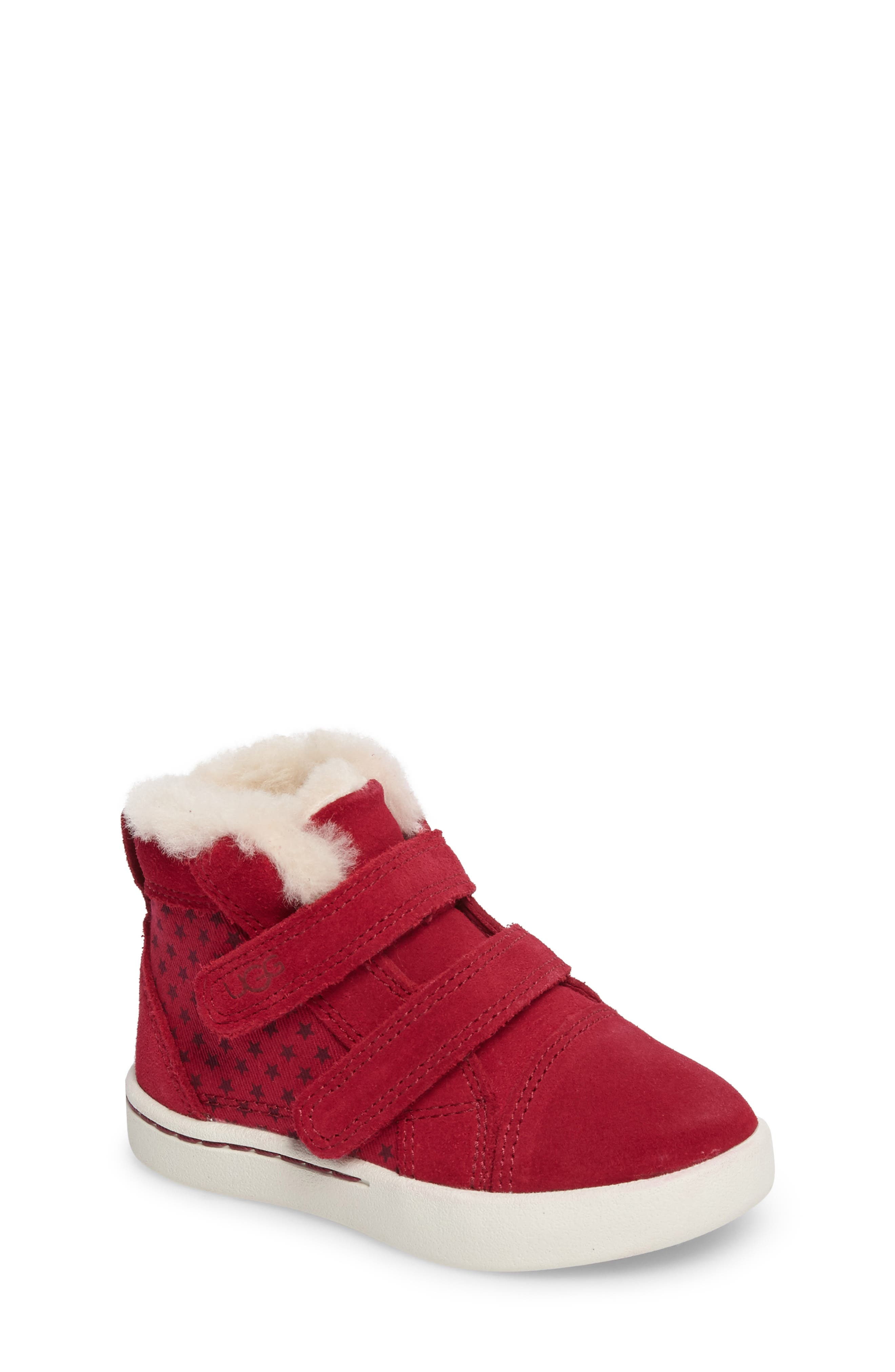 UGG® Rennon Stars High Top Sneaker (Walker & Toddler)