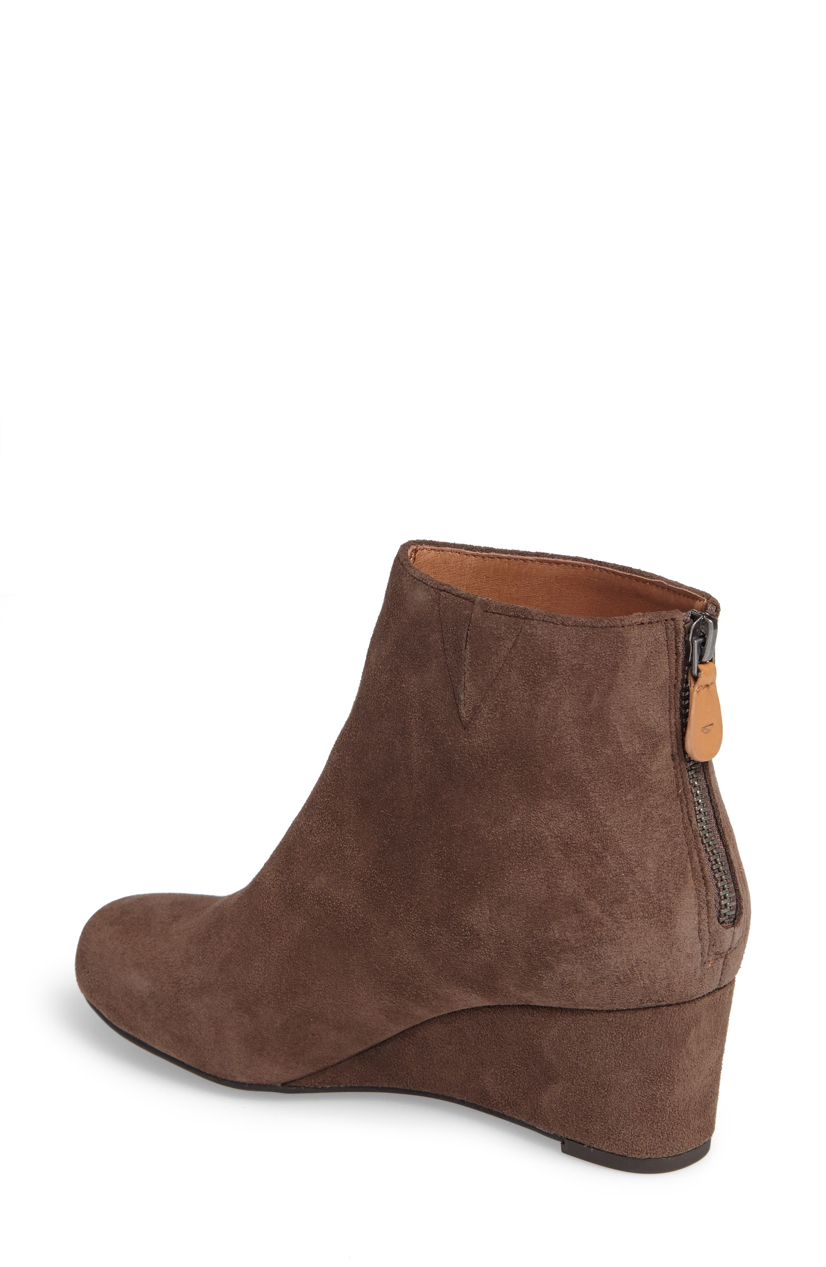 by Kenneth Cole Vicki Wedge Bootie,                             Alternate thumbnail 2, color,                             Dark Brown Suede