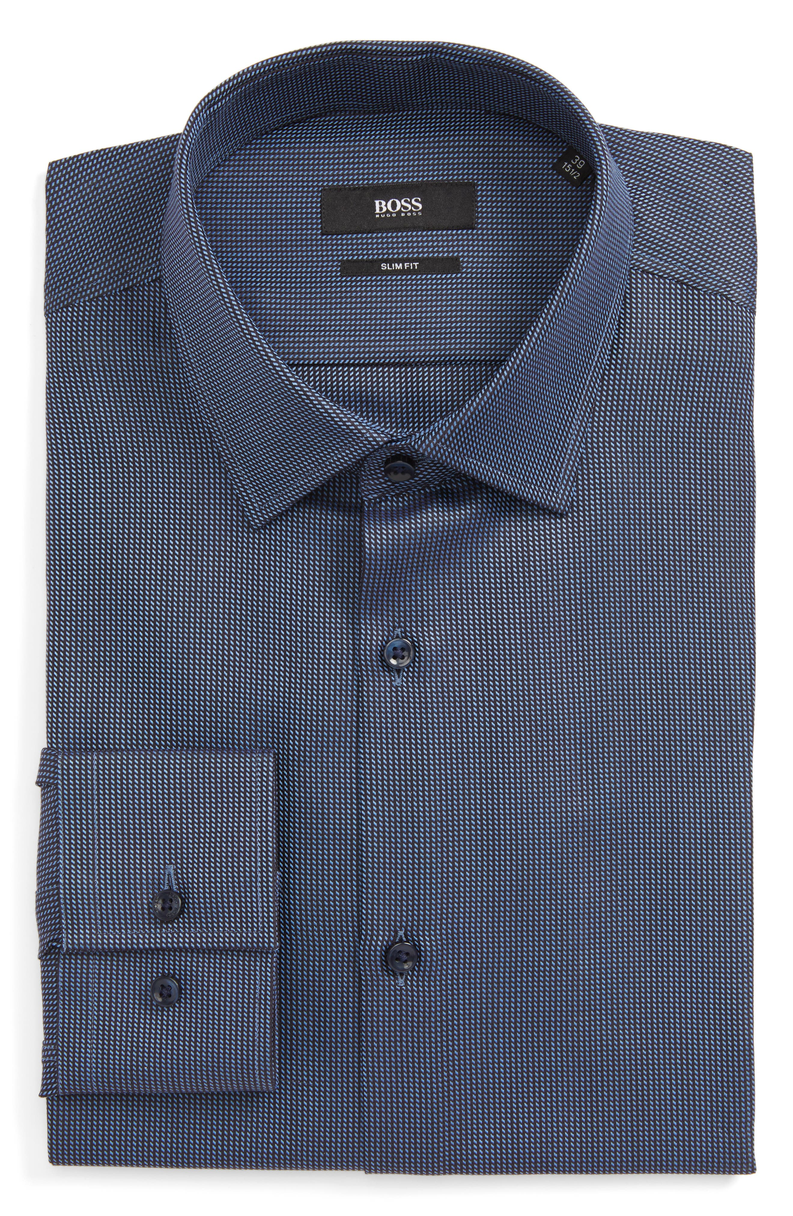 Alternate Image 1 Selected - BOSS Jenno Slim Fit Dress Shirt