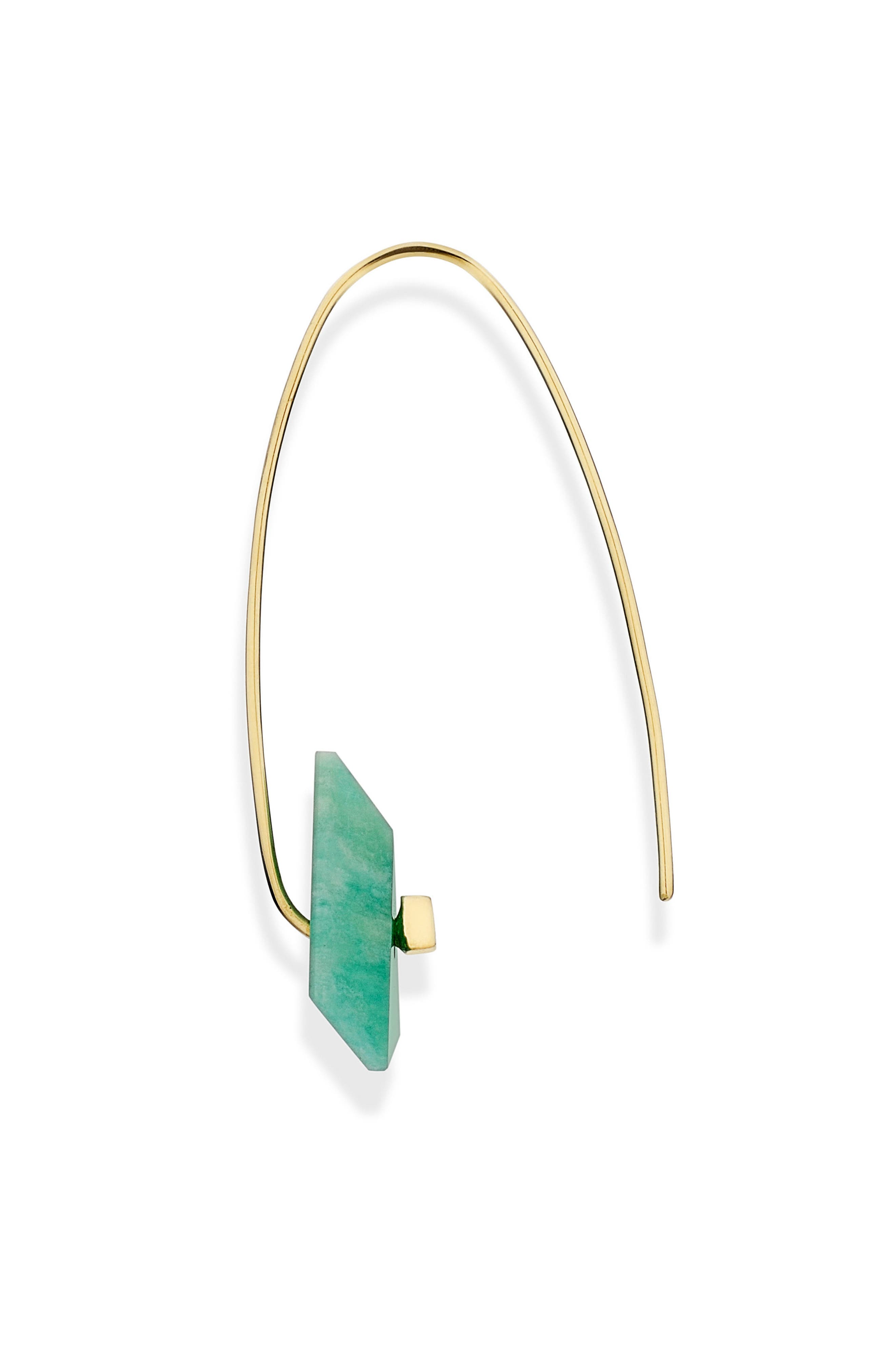 Reverse Fit Amazonite & Diamond Triangle Earrings,                             Alternate thumbnail 2, color,                             Amazonite