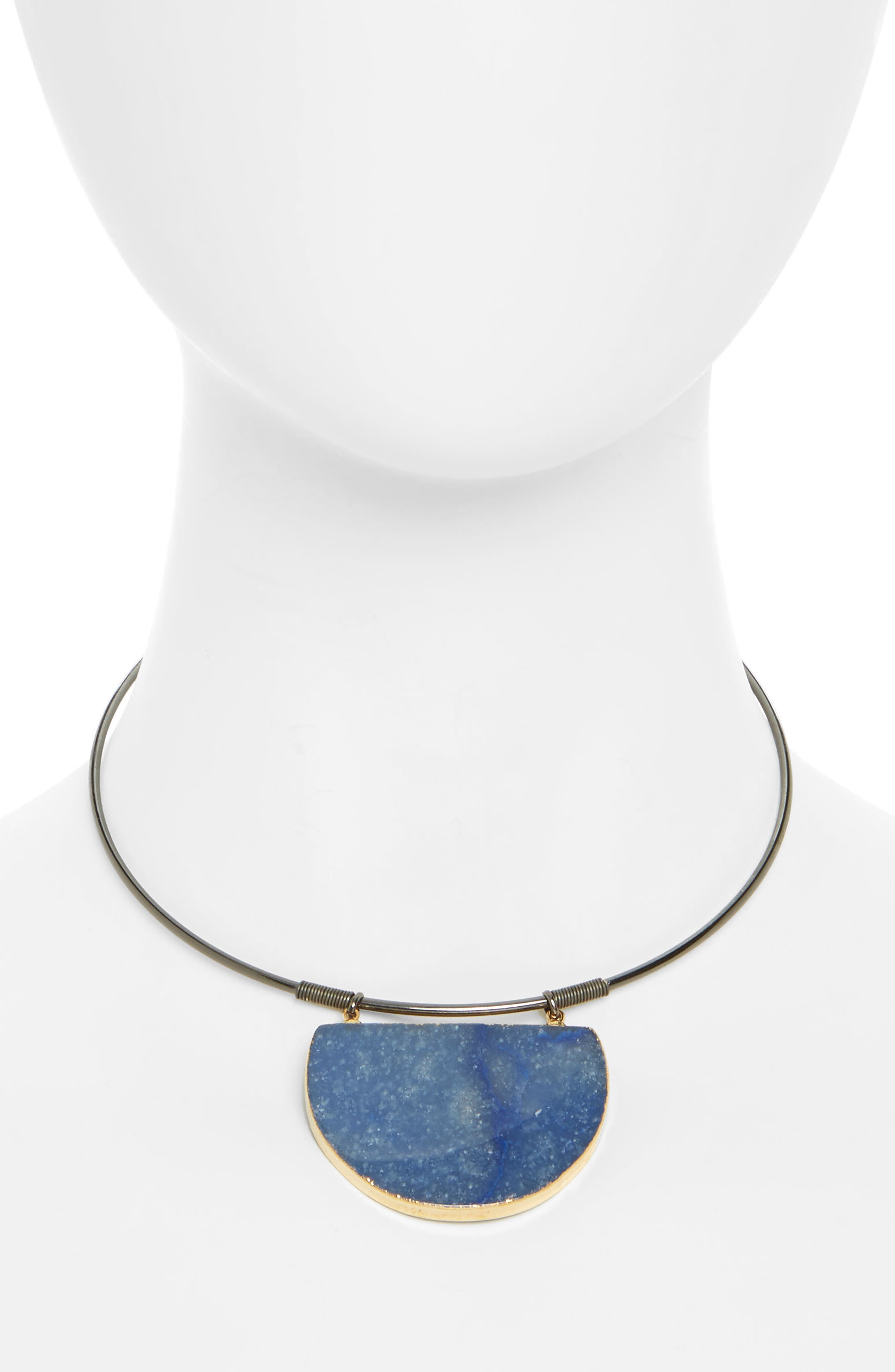 Stone Wire Choker,                             Main thumbnail 1, color,                             Blue