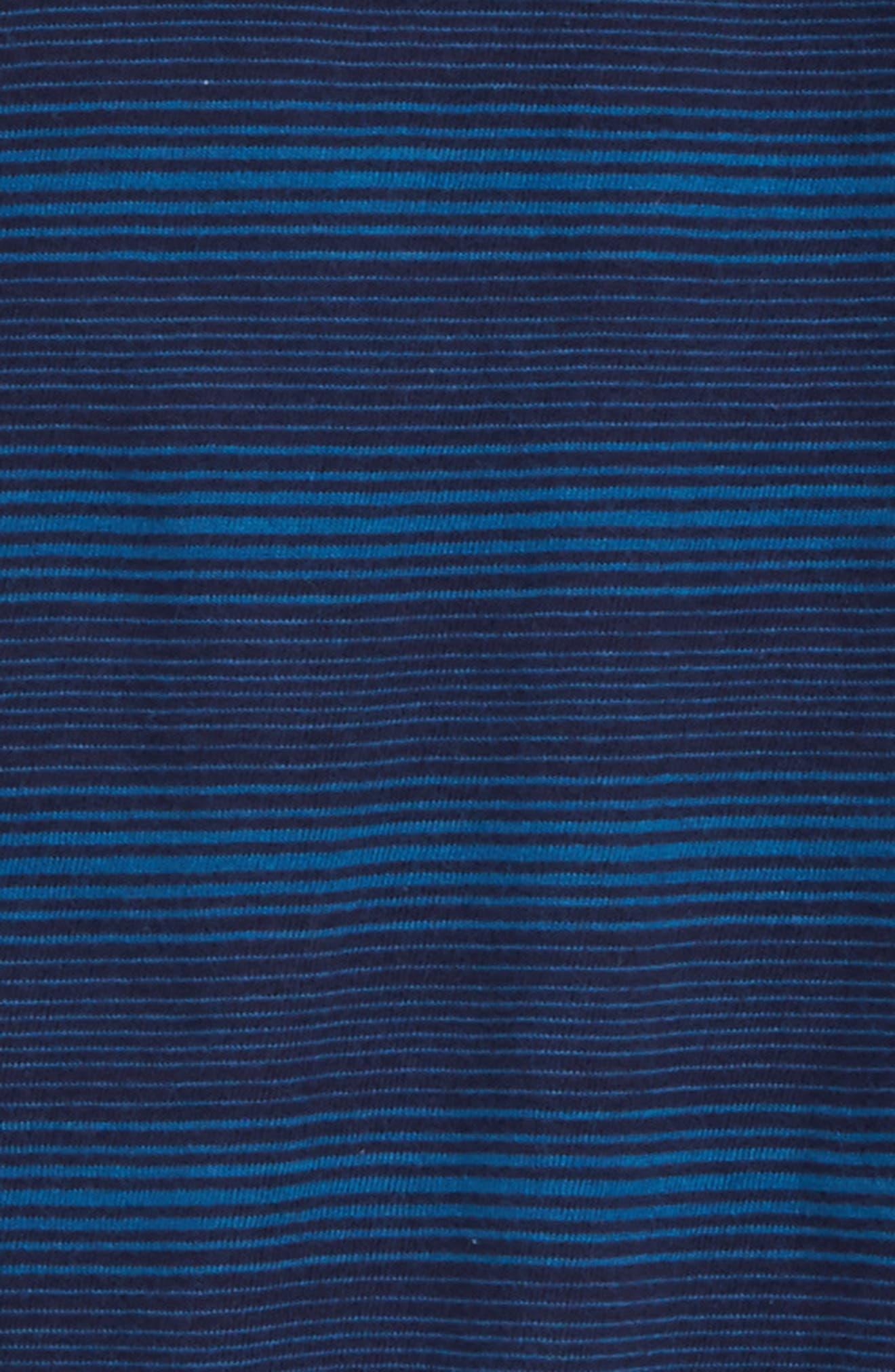 Long Sleeve Polo,                             Alternate thumbnail 2, color,                             Navy Midnight- Blue Stripe