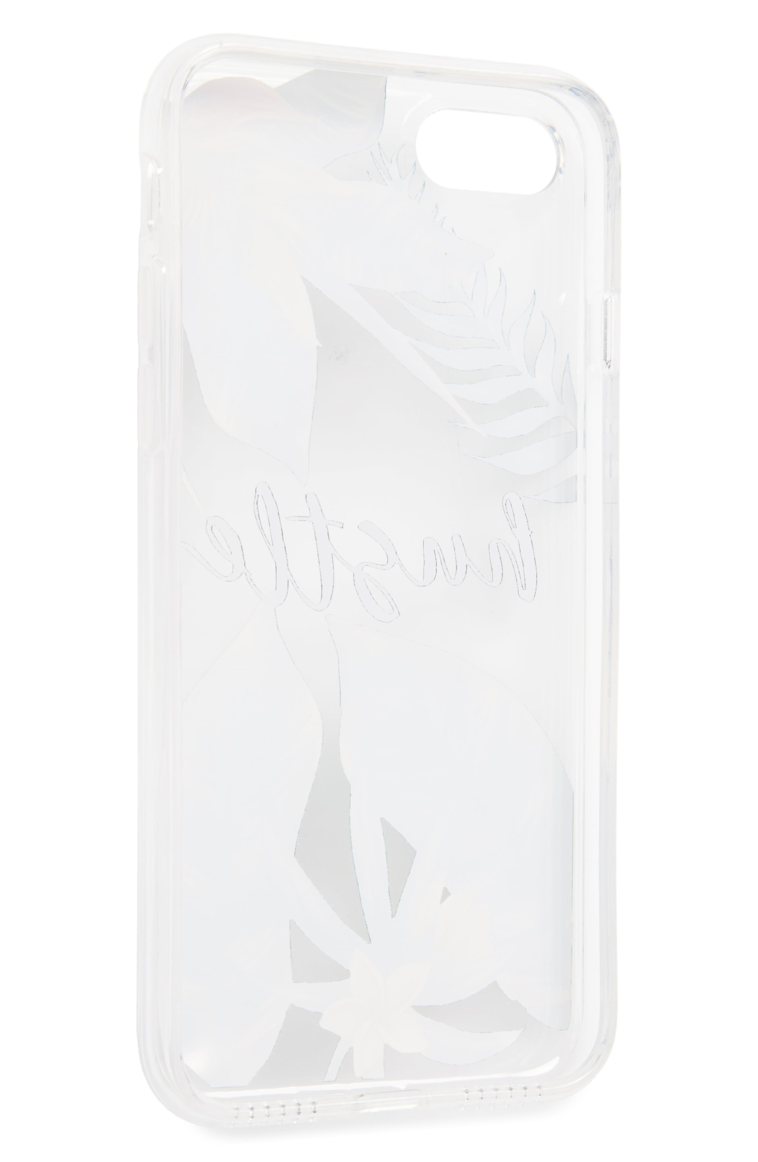 Floral Hustle iPhone 7 Case,                             Alternate thumbnail 2, color,                             Clear/ Green