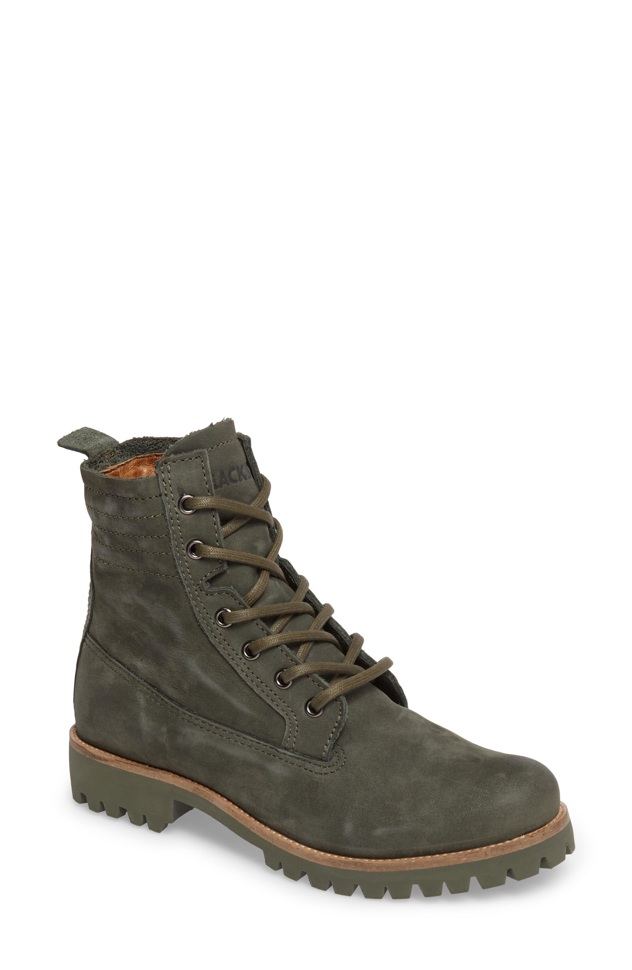 OL23 Lace-Up Boot,                         Main,                         color, Dark Green Nubuck