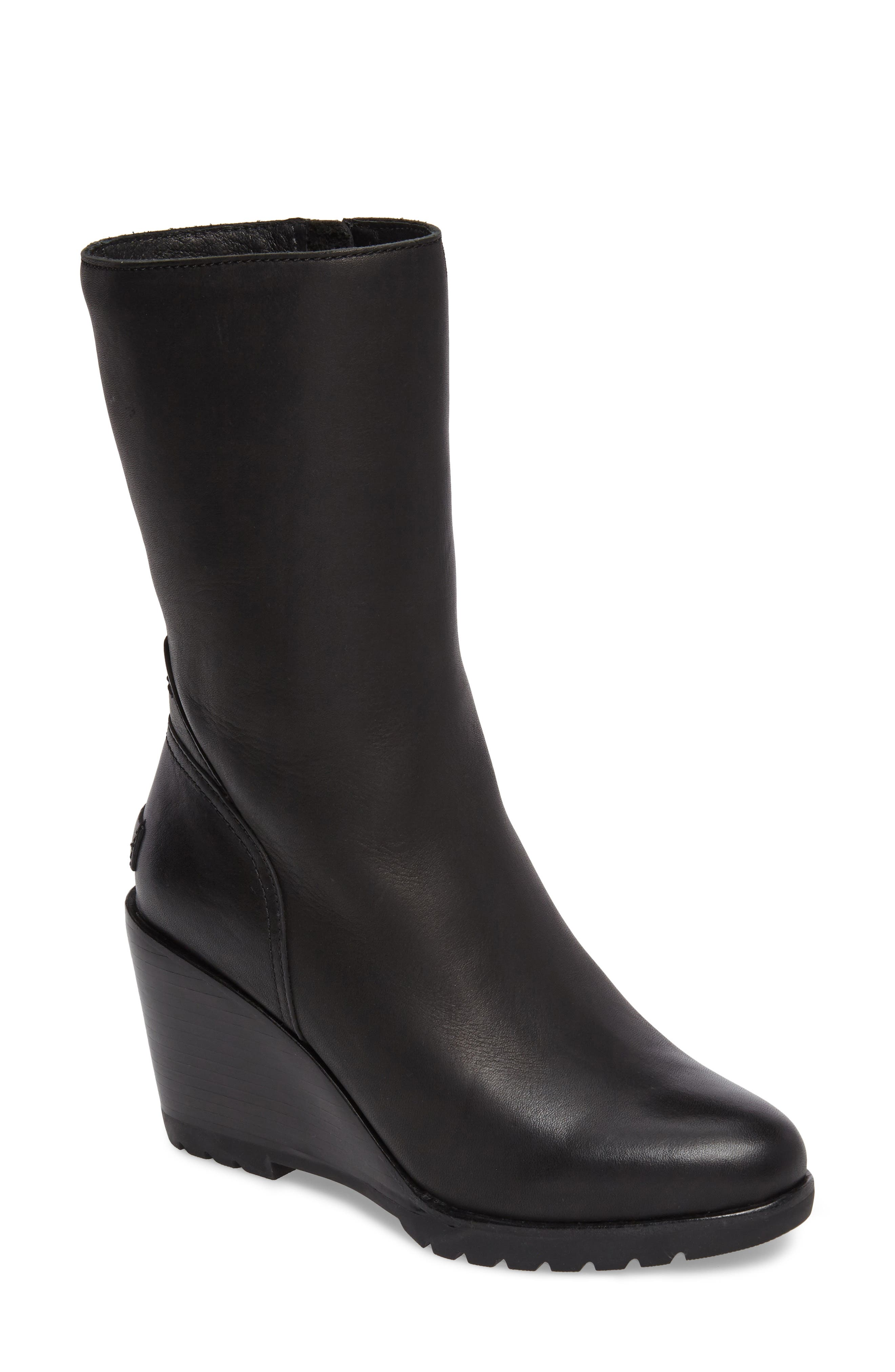 After Hours Waterproof Bootie,                             Main thumbnail 1, color,                             Black