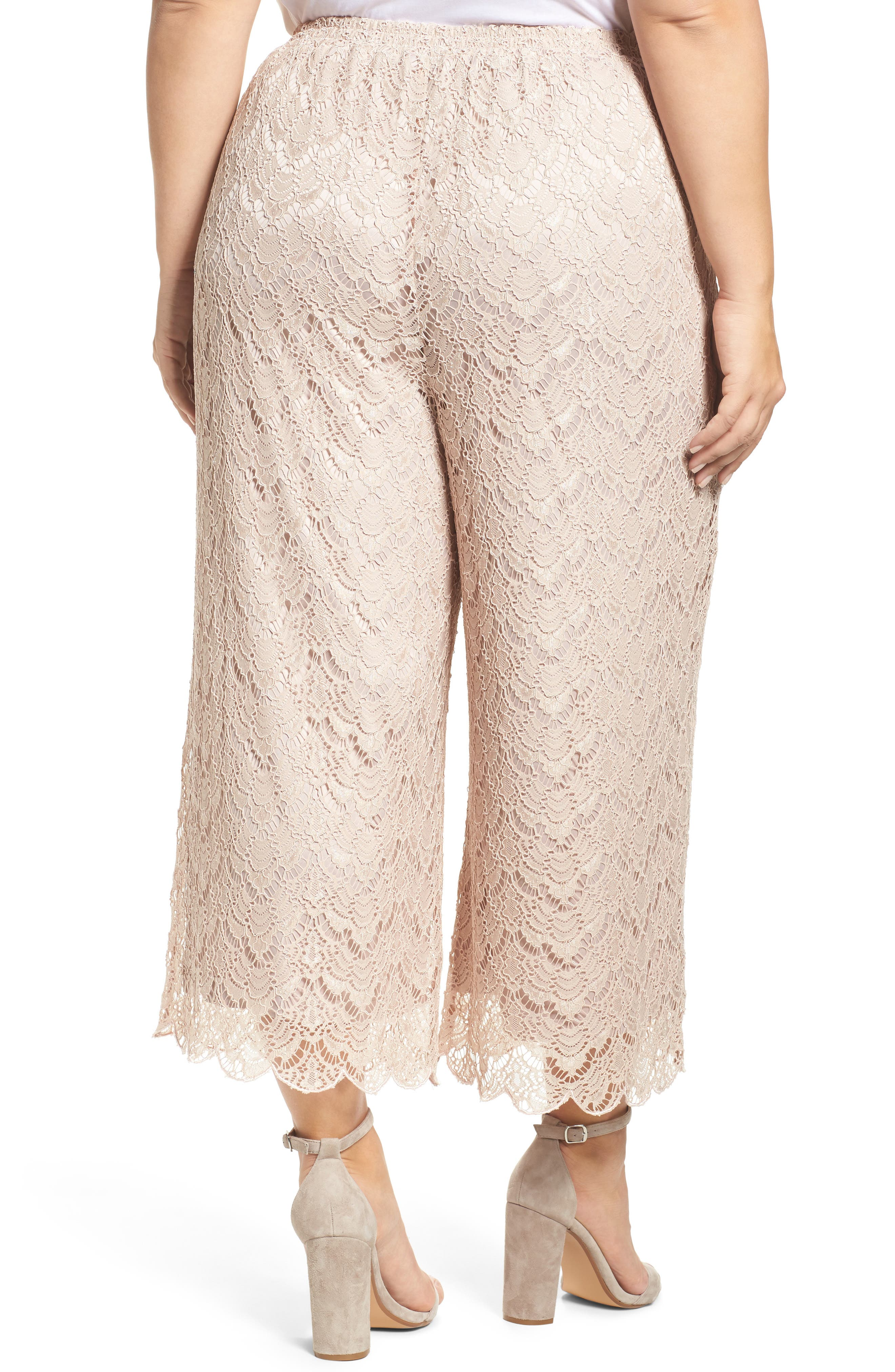Lace Culottes,                             Alternate thumbnail 2, color,                             Nude