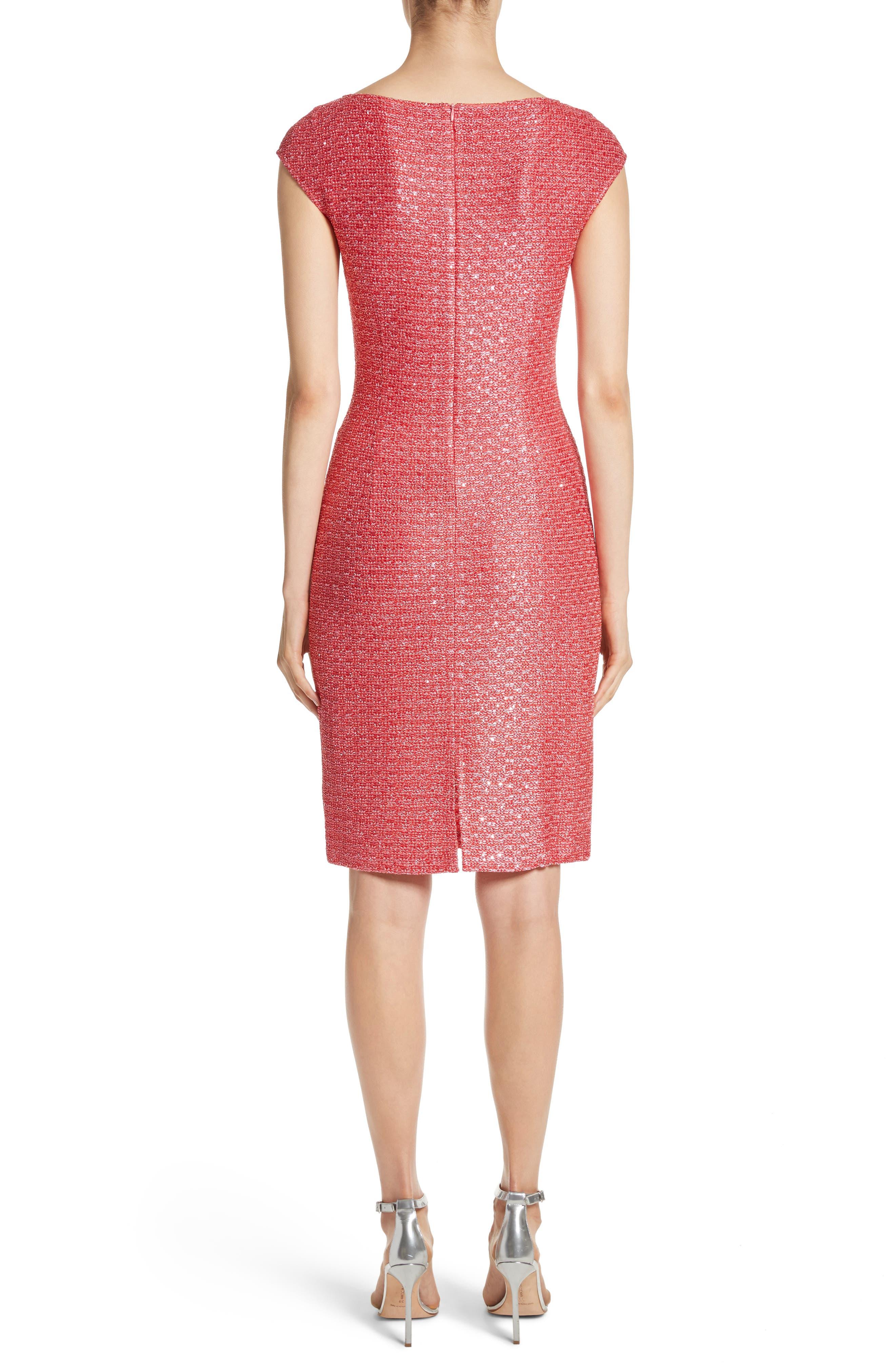 Hansh Knit Dress,                             Alternate thumbnail 2, color,                             Coral Multi