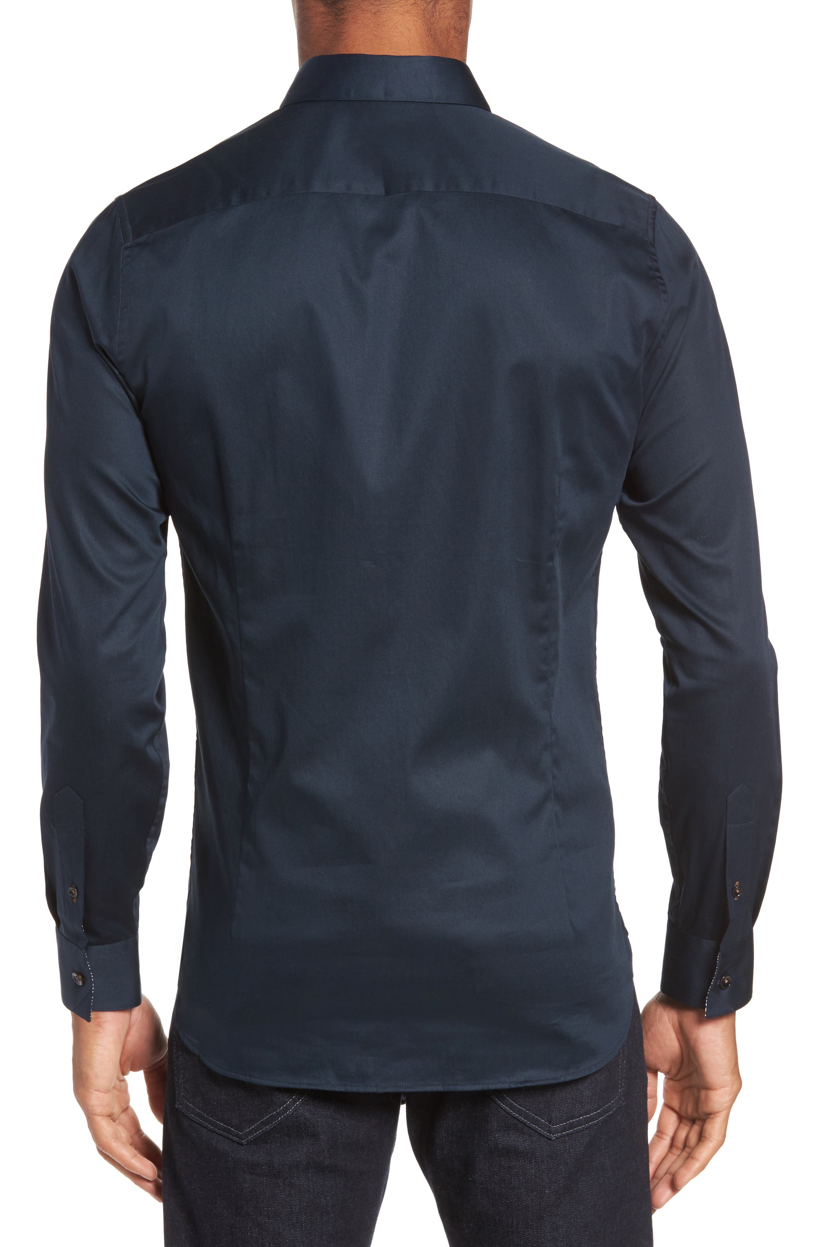Marsay Modern Slim Fit Sport Shirt,                             Alternate thumbnail 3, color,                             Navy