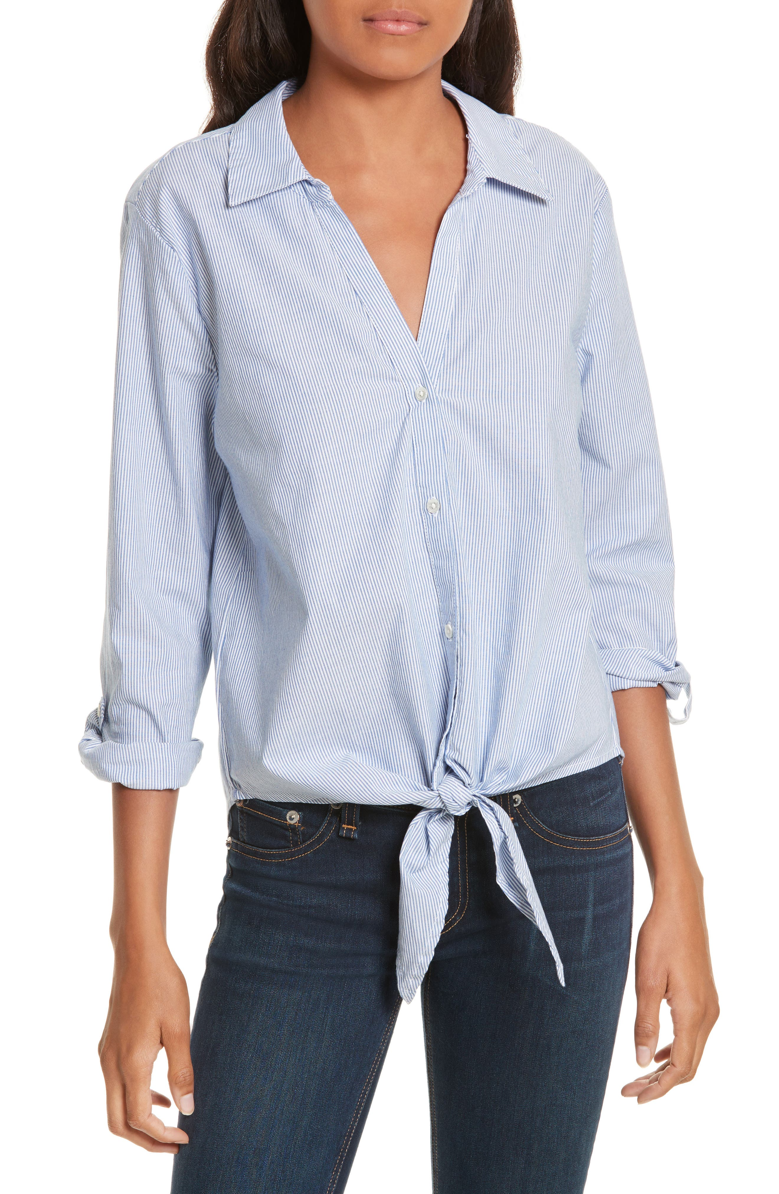 Alternate Image 1 Selected - Soft Joie Crysta Tie Front Shirt