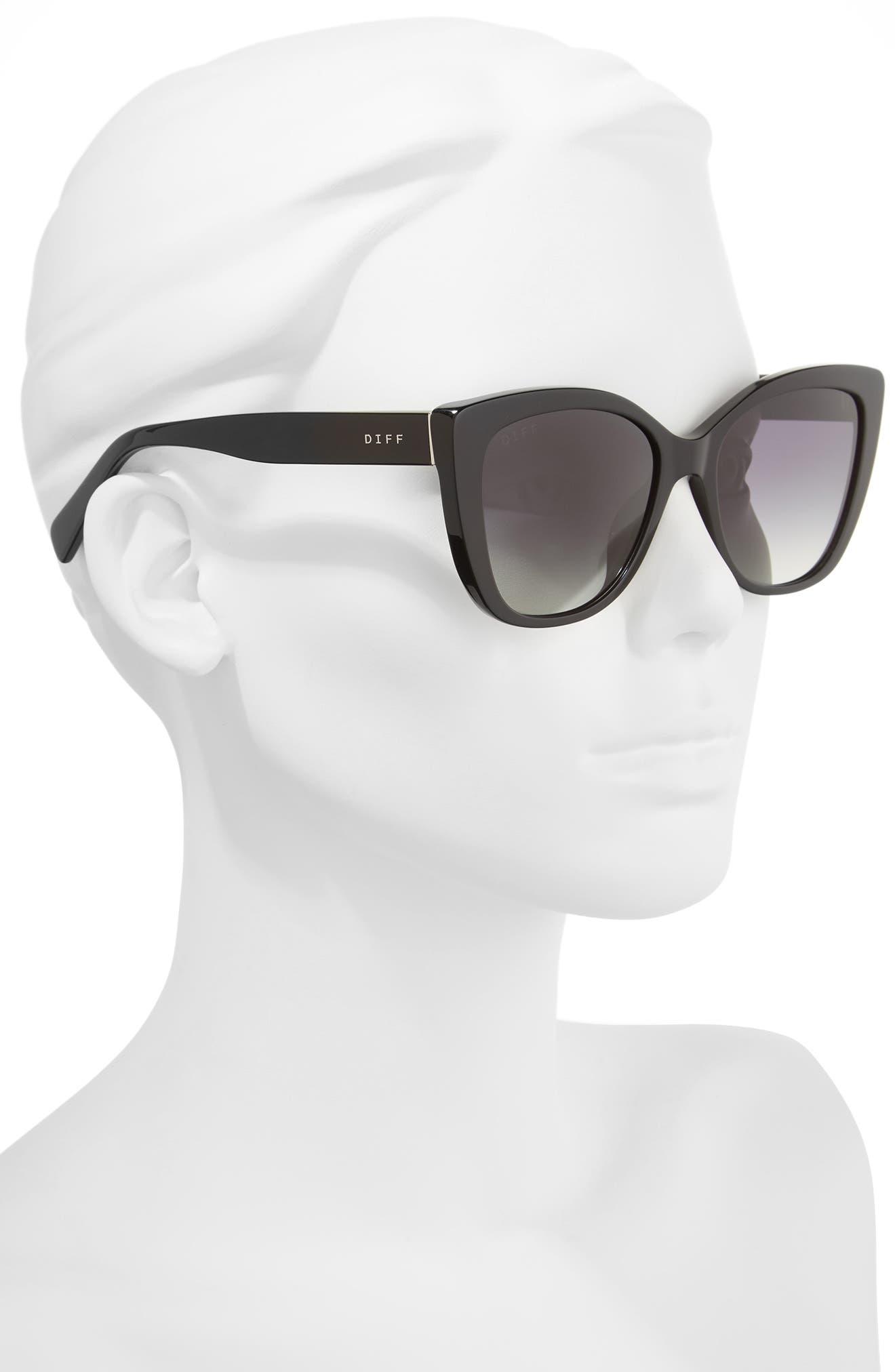 Ruby 54mm Polarized Sunglasses,                             Alternate thumbnail 2, color,                             Black/ Grey