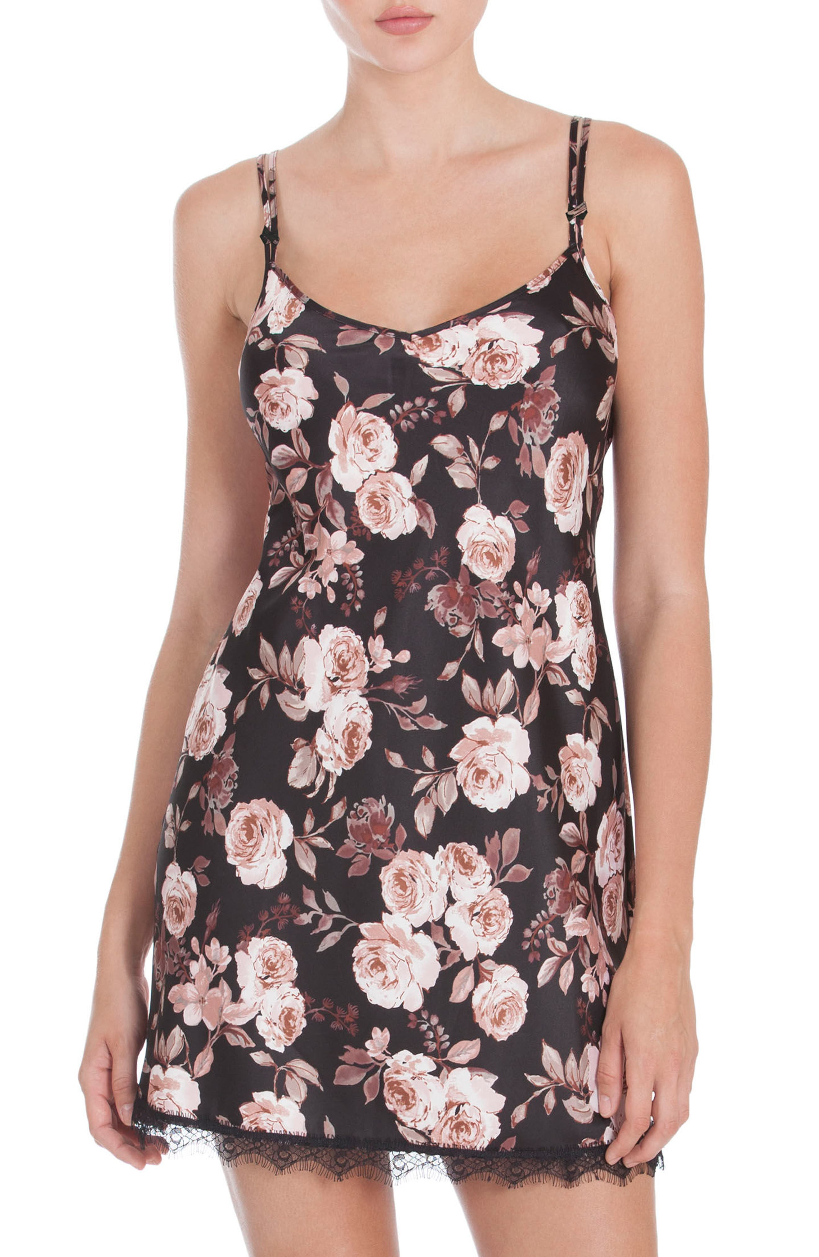 MIDNIGHT BAKERY Floral Print Chemise