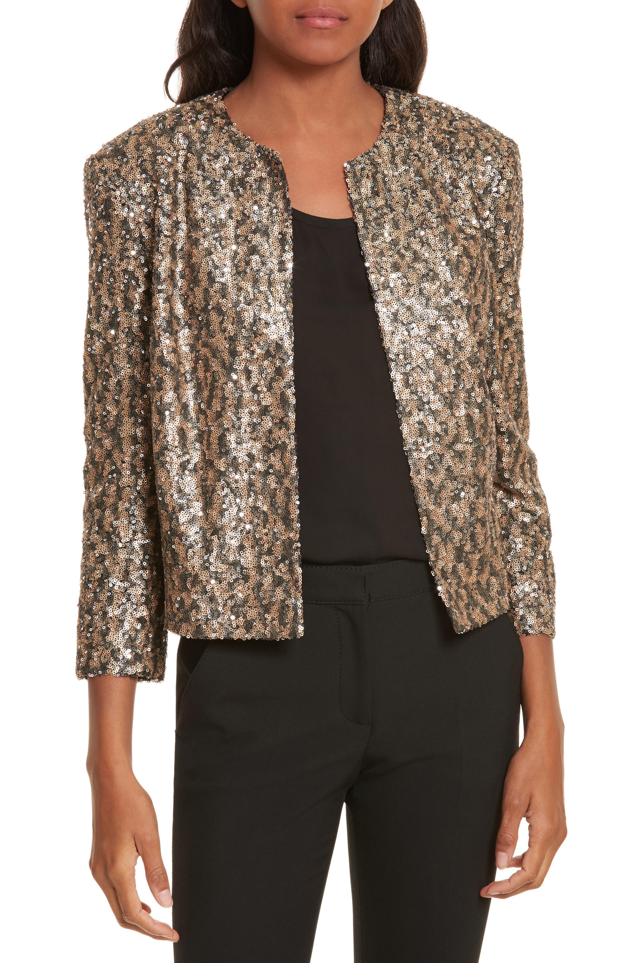 Helene Berman Sequin Crop Jacket