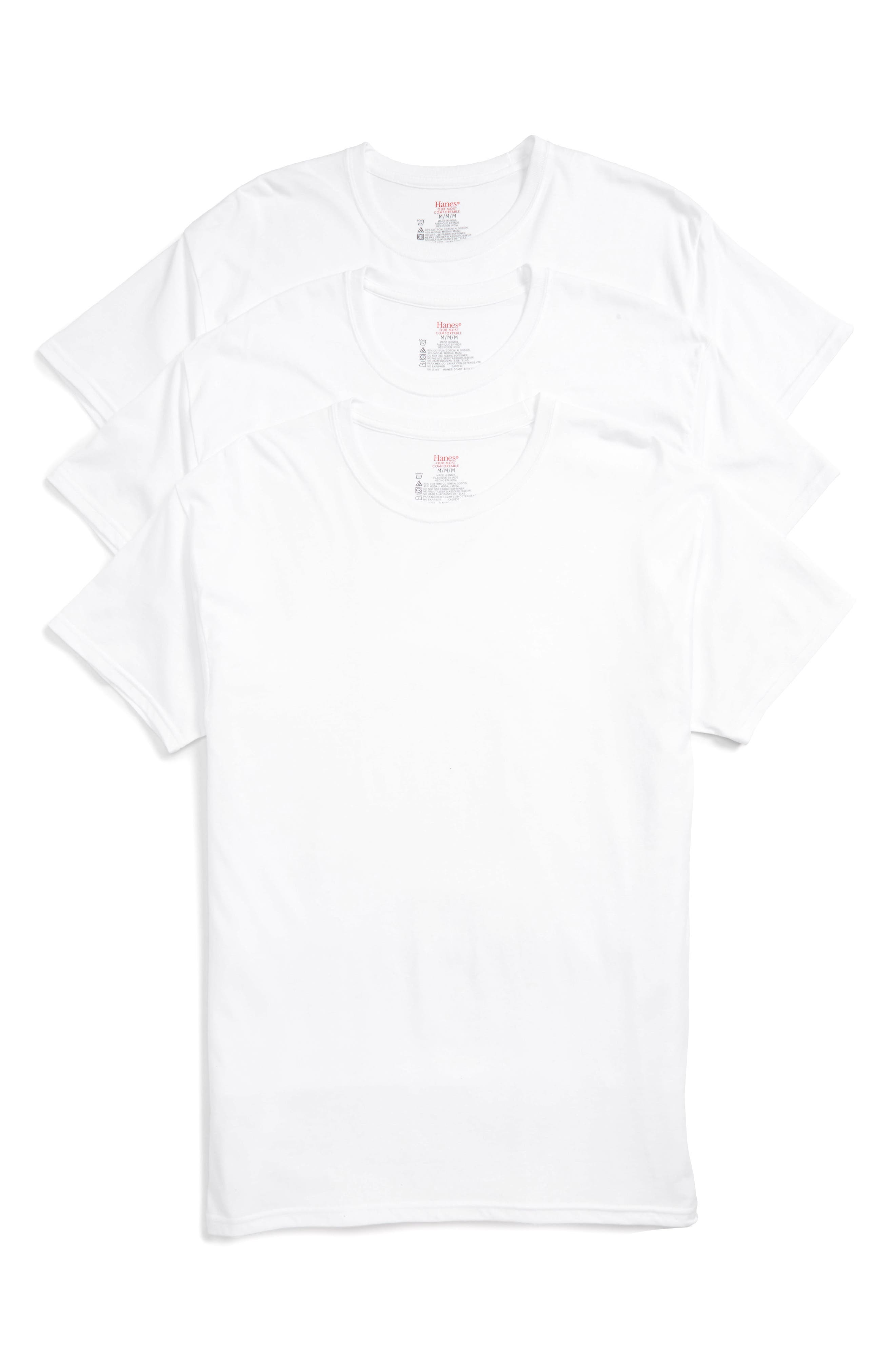 Alternate Image 1 Selected - Hanes Luxury Essentials 3-Pack T-Shirt