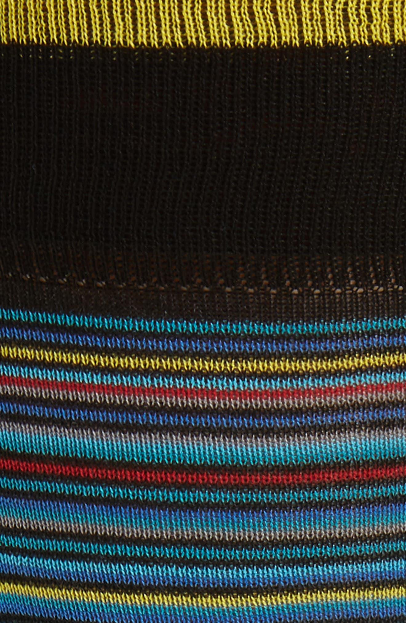 Stripe Crew Socks,                             Alternate thumbnail 2, color,                             Black Multi