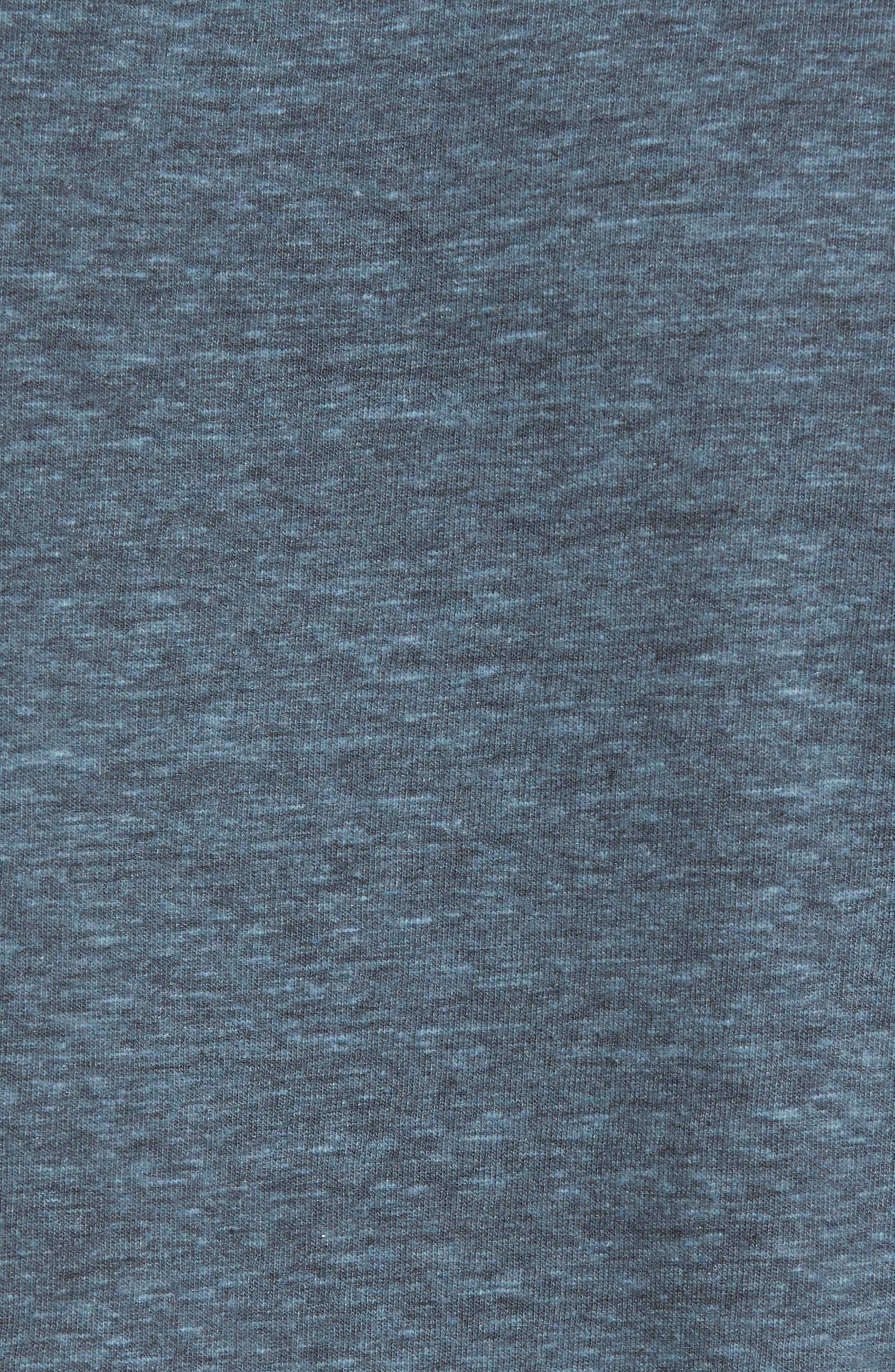 V-Neck Heathered T-Shirt,                             Alternate thumbnail 6, color,                             Real Teal