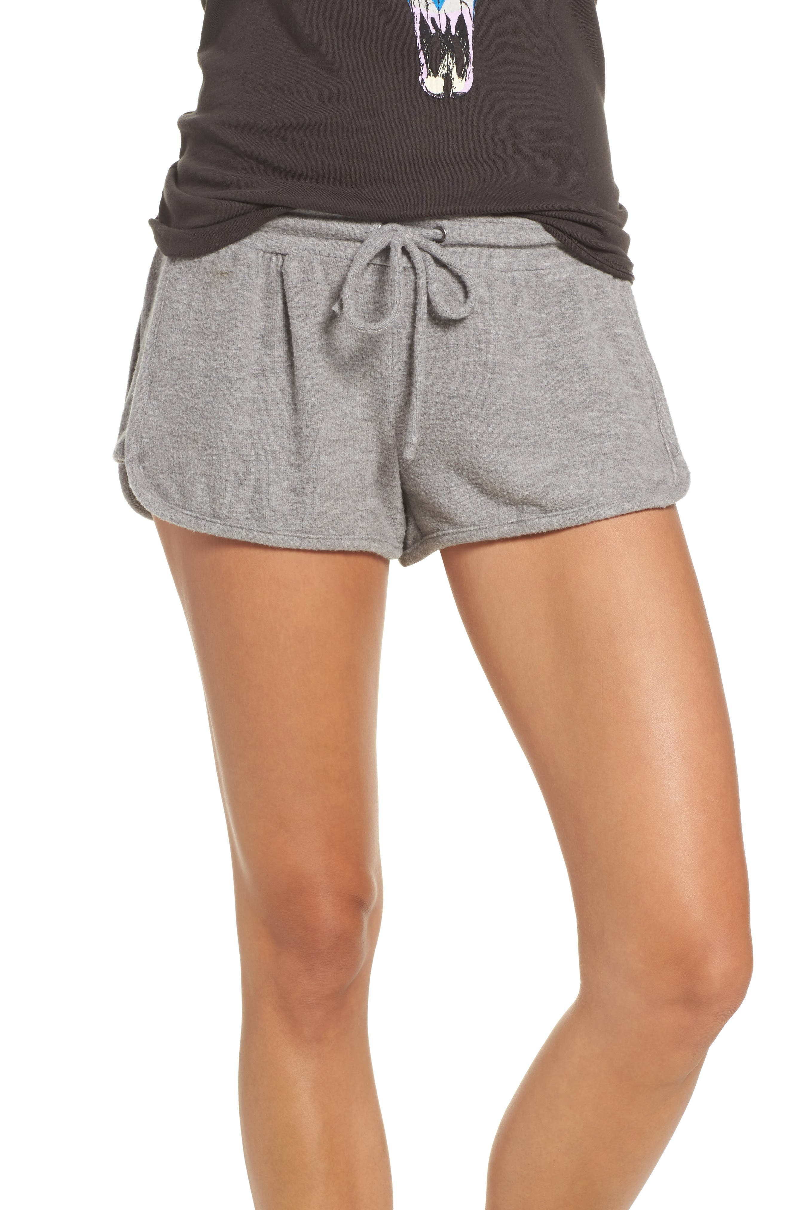 Love Shorts,                             Main thumbnail 1, color,                             Heather Grey