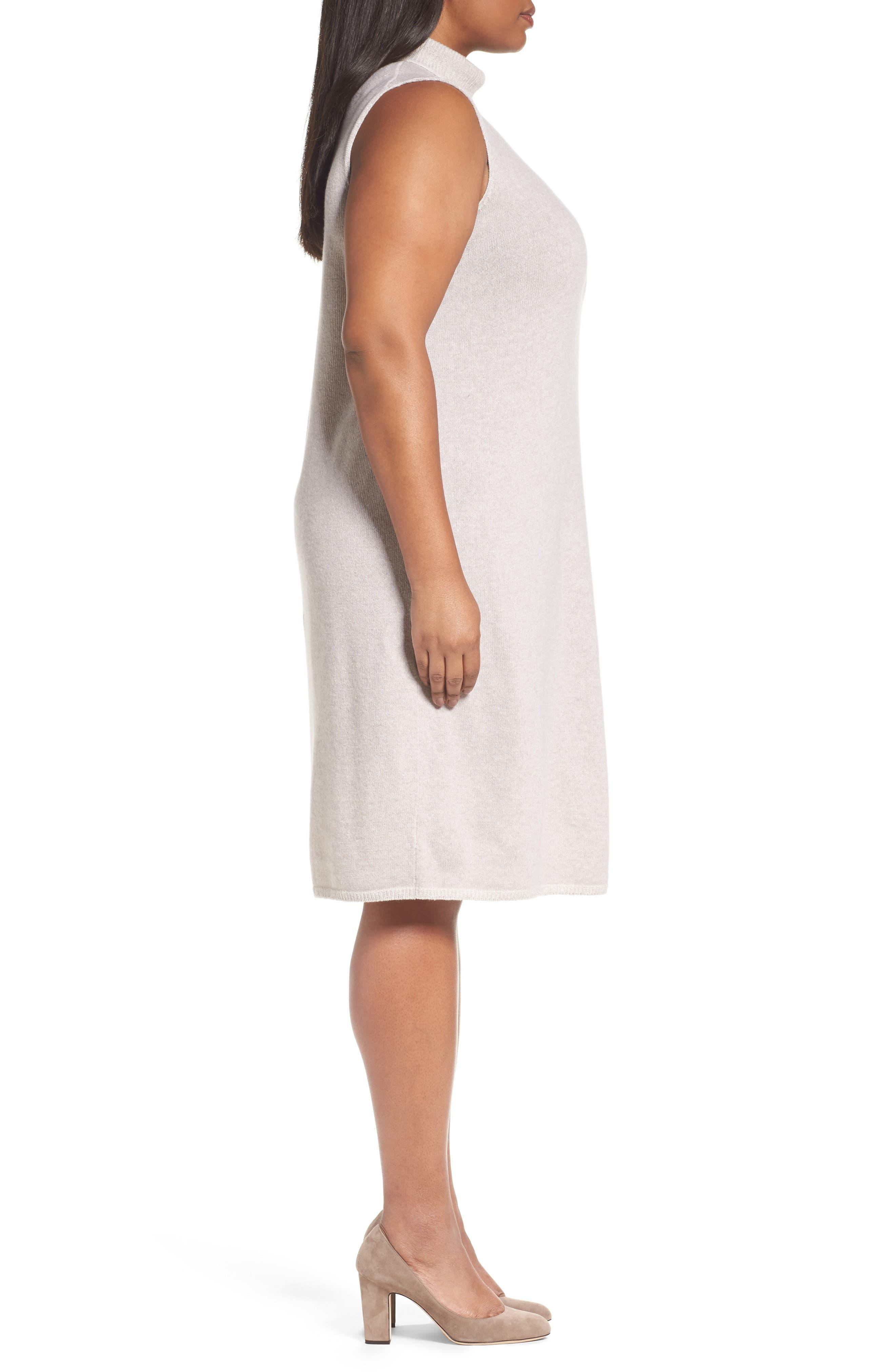Alternate Image 3  - Lafayette 148 New York Vanise Merino Wool & Cashmere Sweater Dress (Plus Size)