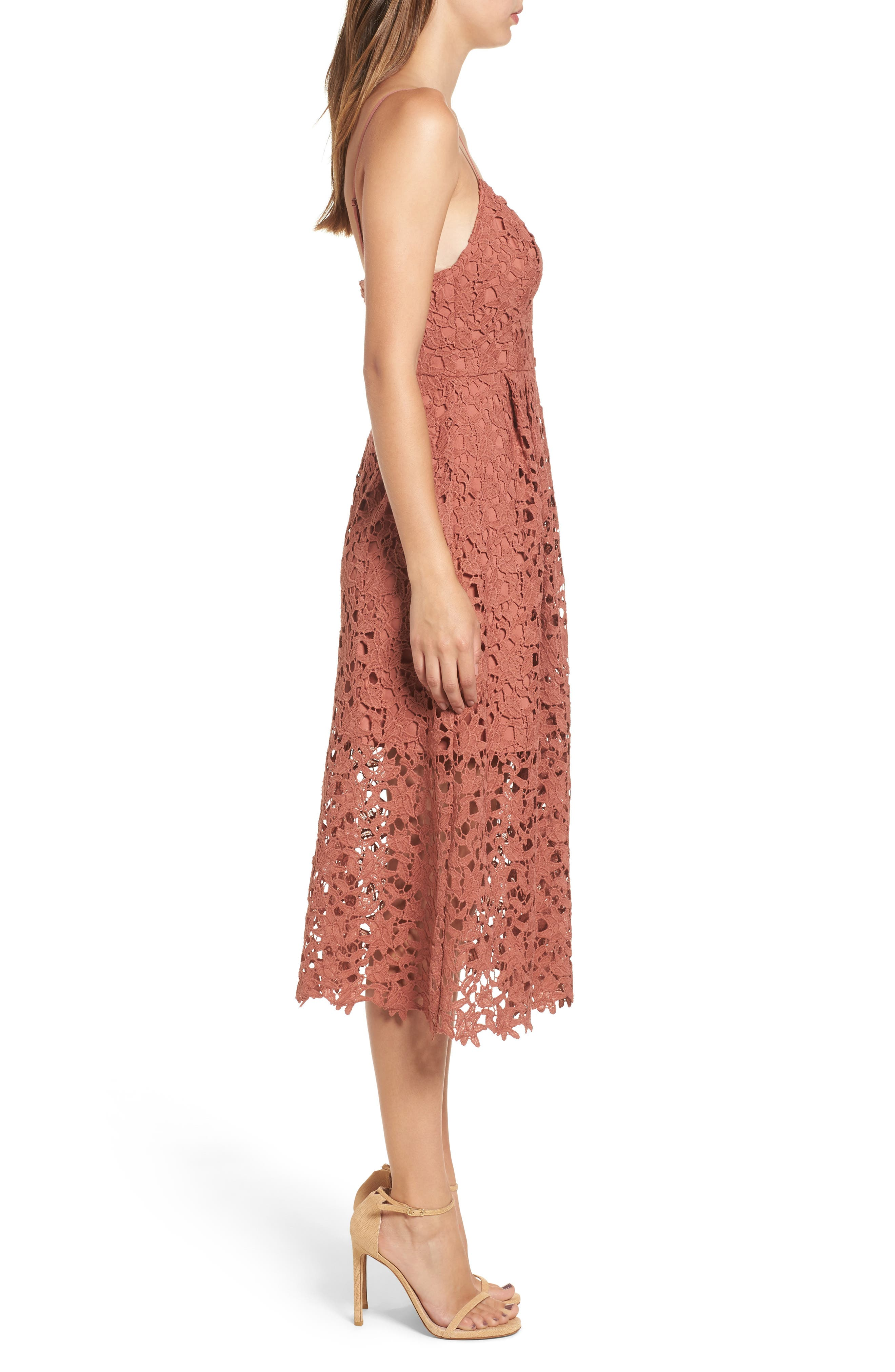 Alternate Image 3  - ASTR the Label Lace Midi Dress