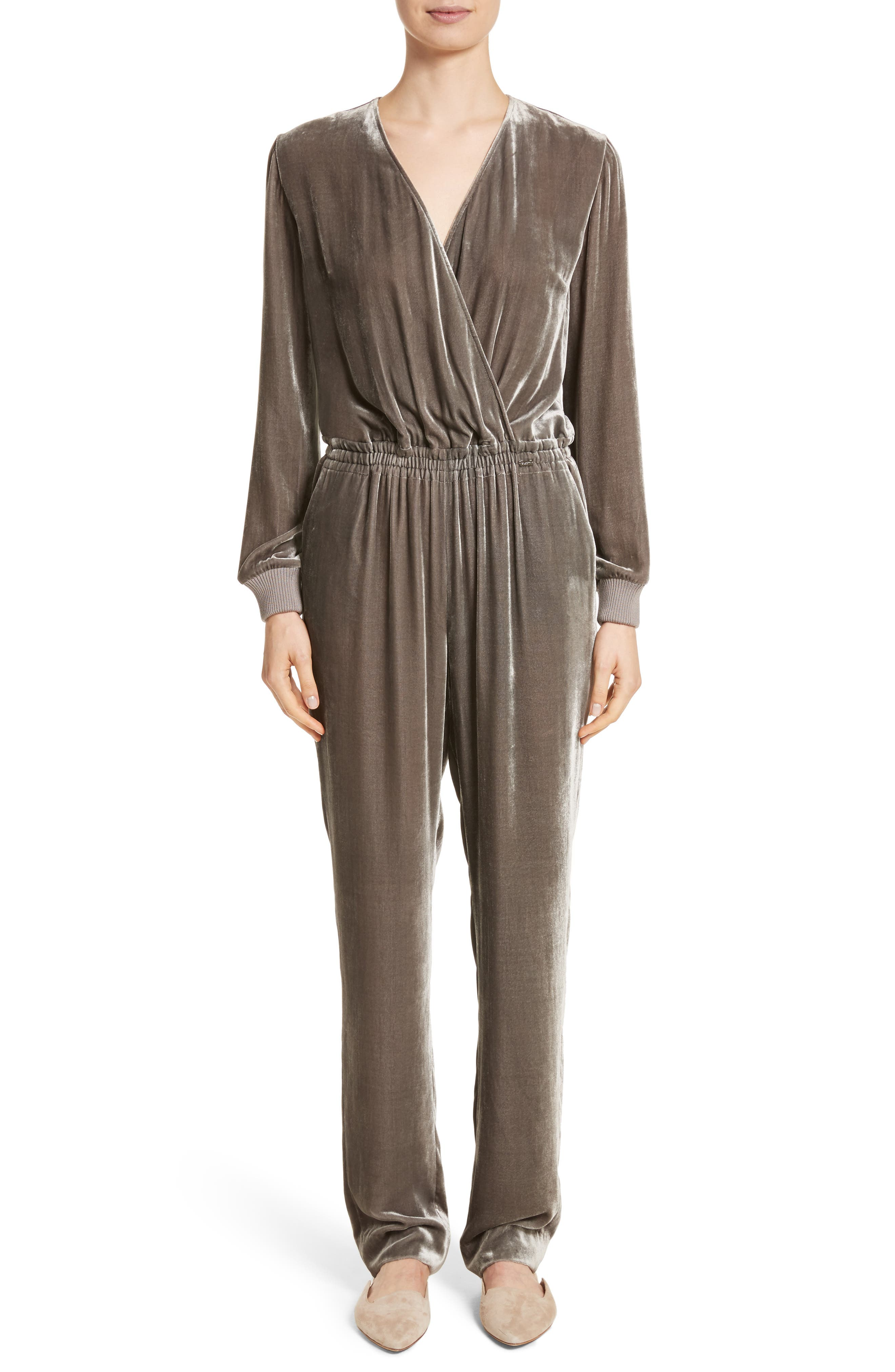 St. John Collection Velvet Jumpsuit
