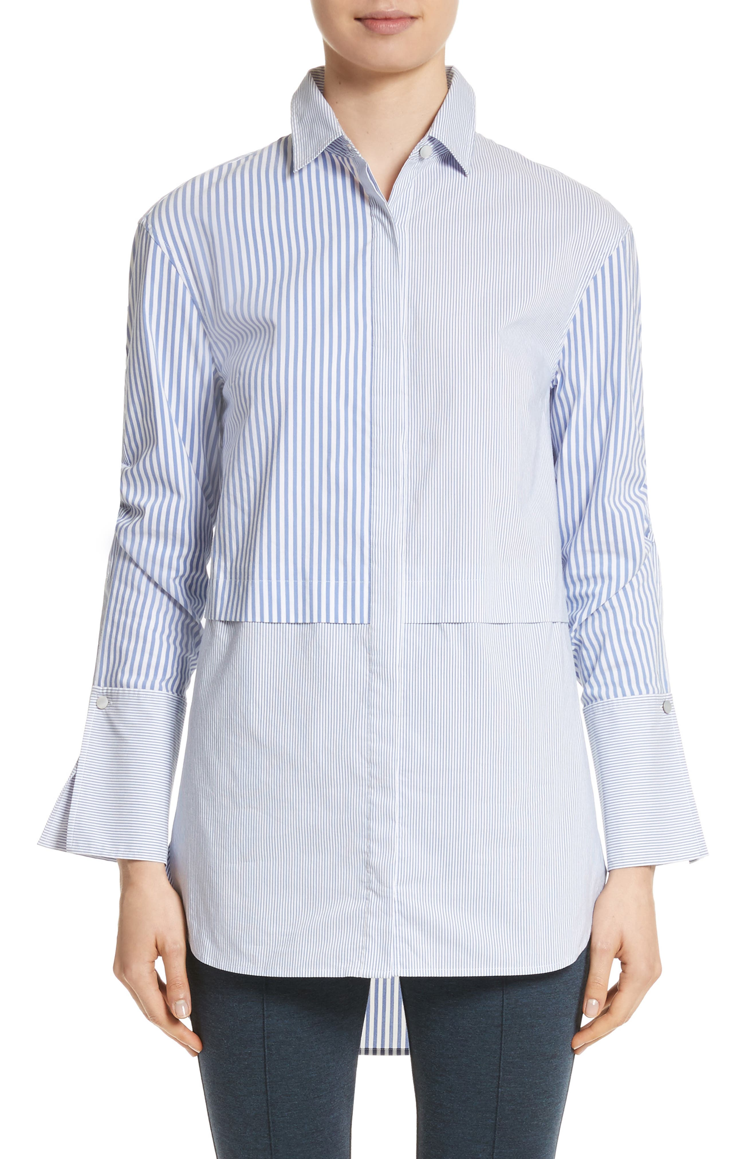 Main Image - St. John Collection Striped Shirting Tunic