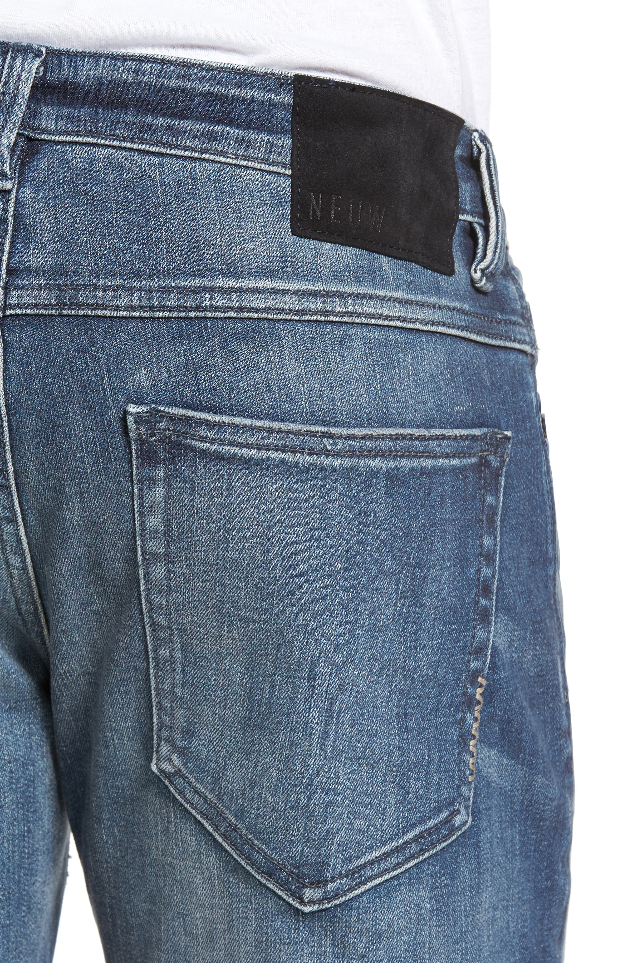 Alternate Image 4  - NEUW Lou Slim Fit Jeans (Biker Wash)