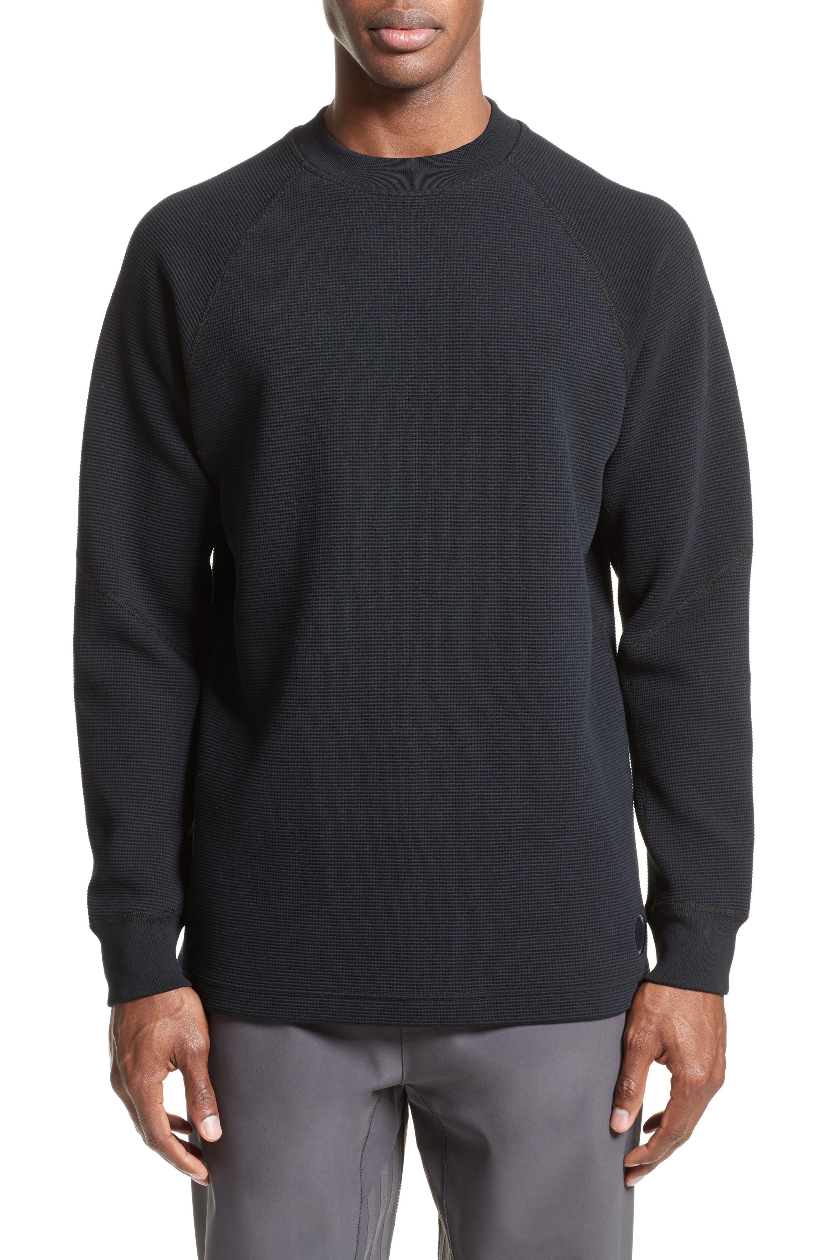 Fisherman Crewneck Sweatshirt,                             Main thumbnail 1, color,                             Black